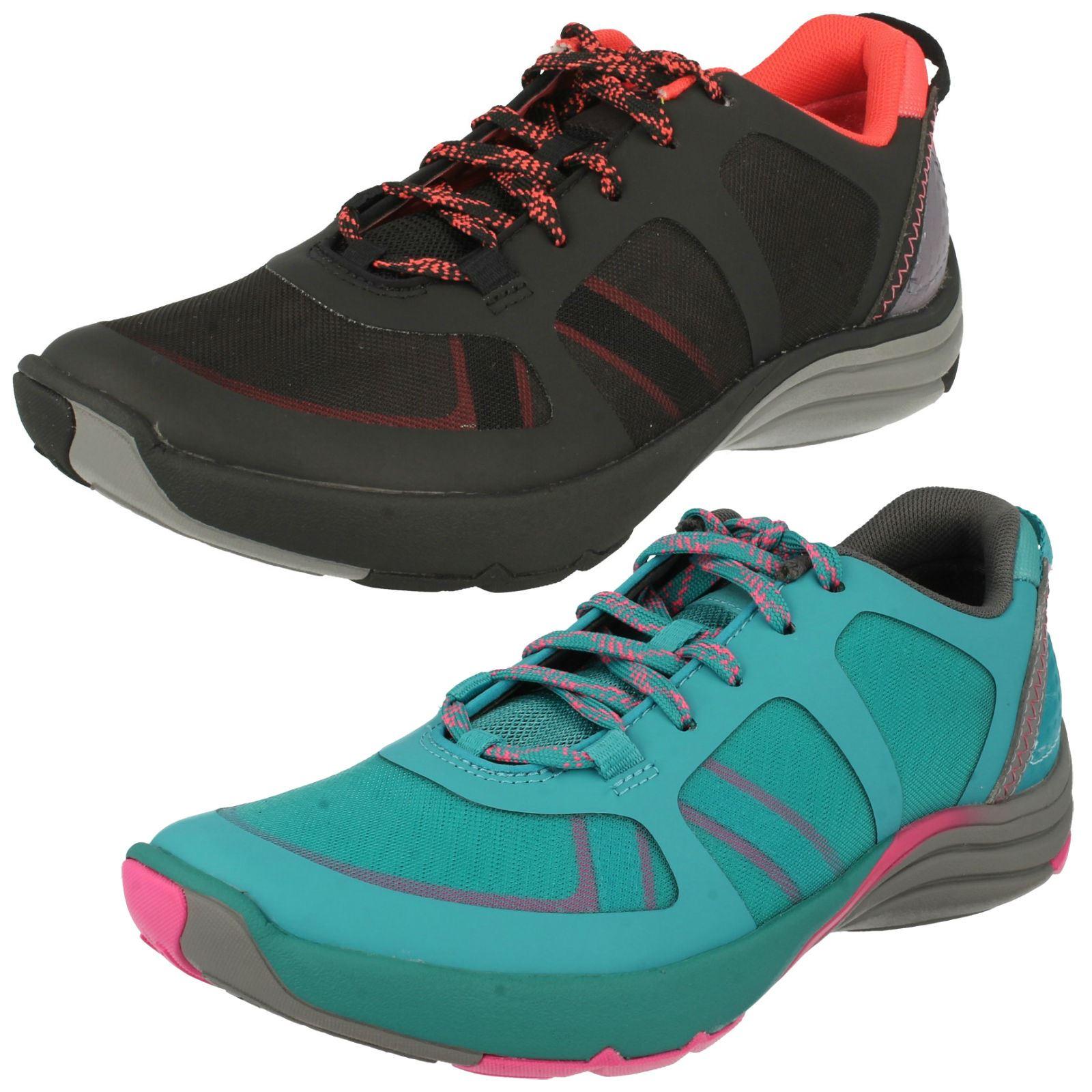 Ladies Clarks Active Wear Trainers Wave Kick