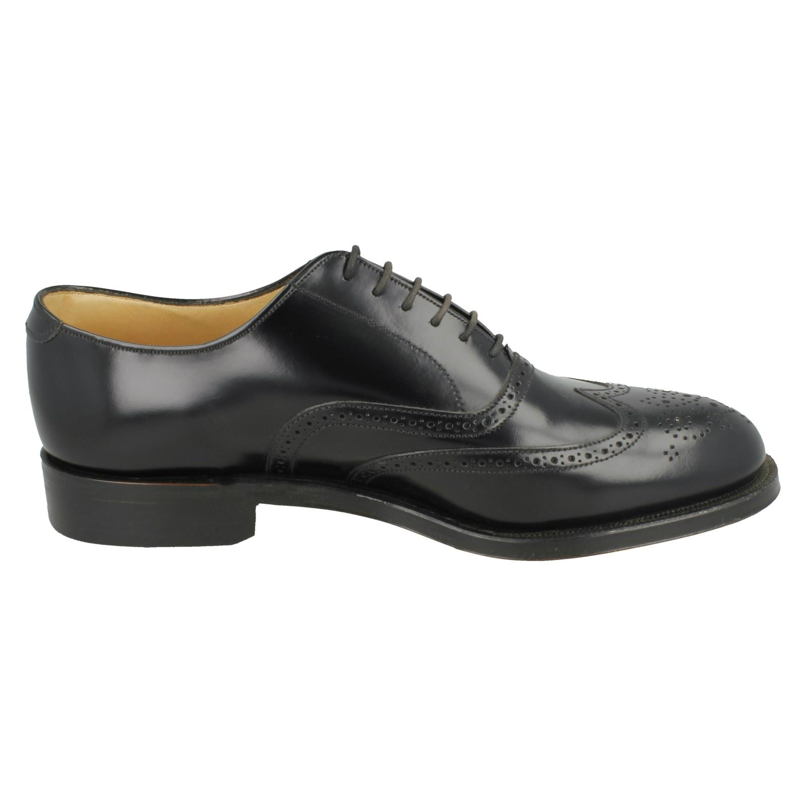Uomo Grenson Leder Leder Leder Lace Up Fastening Rounded Toe Formal Brogue Schuhes - 'Perth' 971897