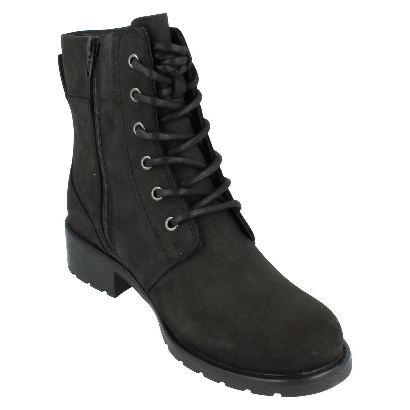 Ladies-Clarks-Casual-Lace-Up-Inside-Zip-Nubuck-Leather-Ankle-Boots-Orinoco-Spice thumbnail 8