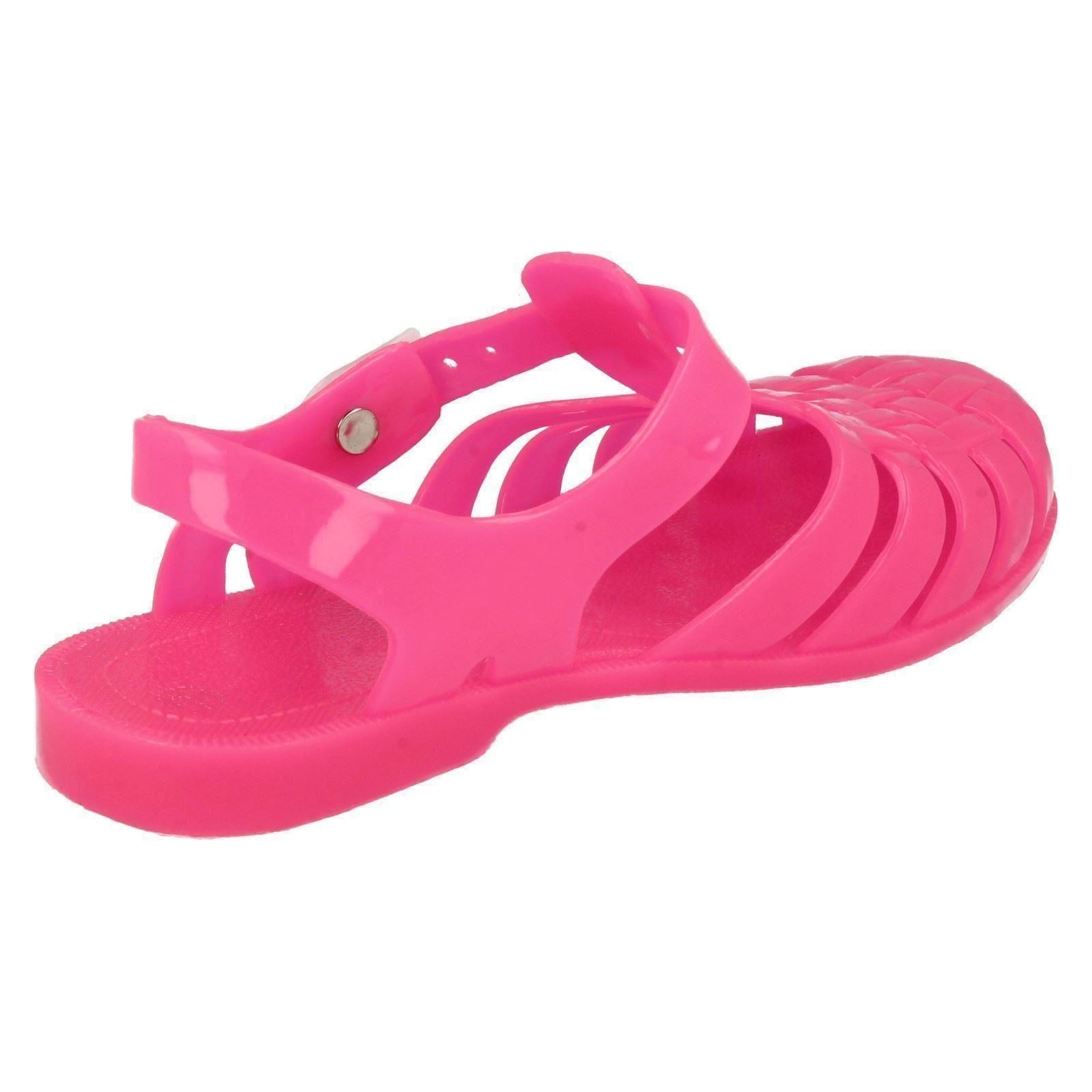 Infant Girls Spot On Closed Toe Glow in the Dark Jelly Sandals - H2310