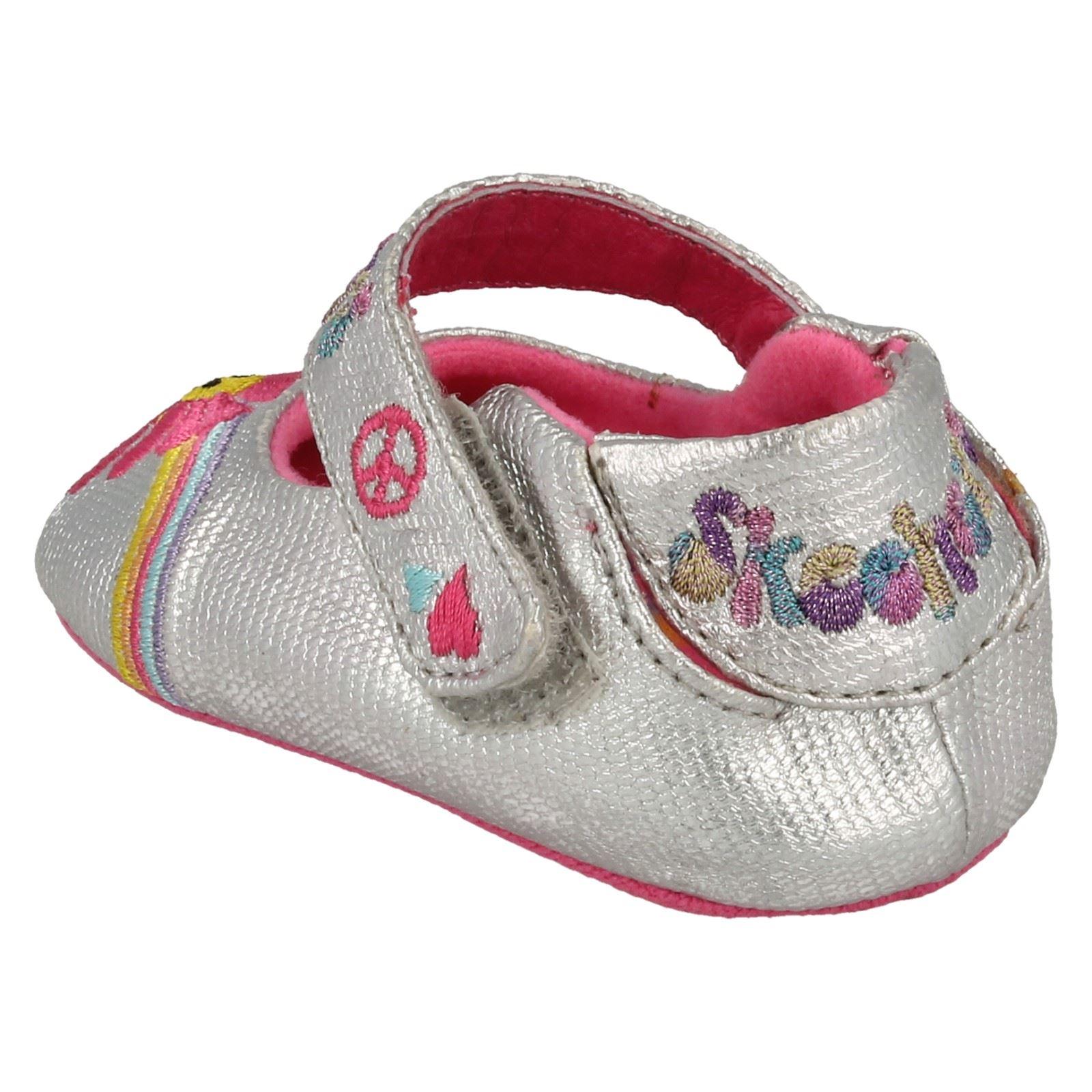 Kleinkinder Baby Mädchen Skechers Textil Haken Schlaufe Babyschuhe