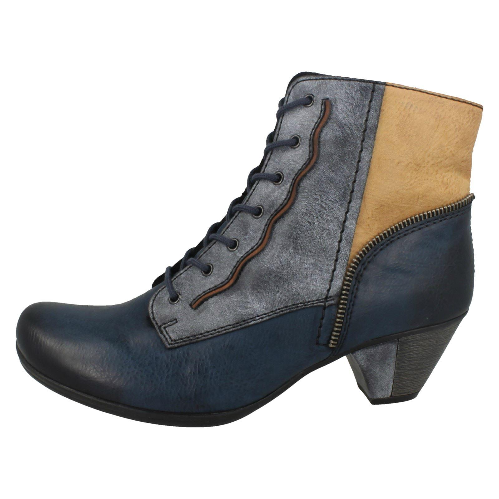 Damas Rieker botas botas botas al tobillo con Cordones' ' 67760a