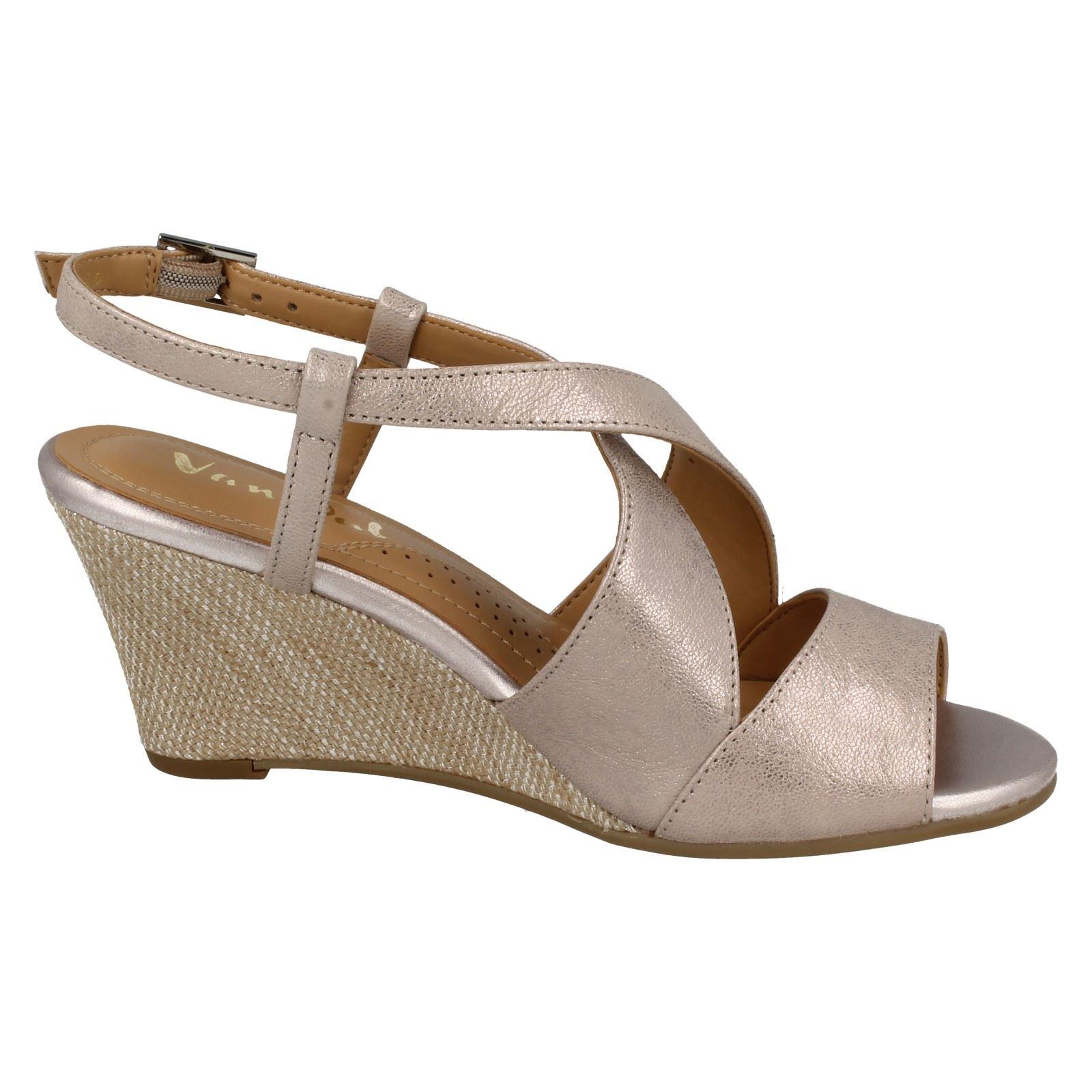 Ladies-Van-Dal-Cross-Strap-Wedged-Sandal-Allora thumbnail 3