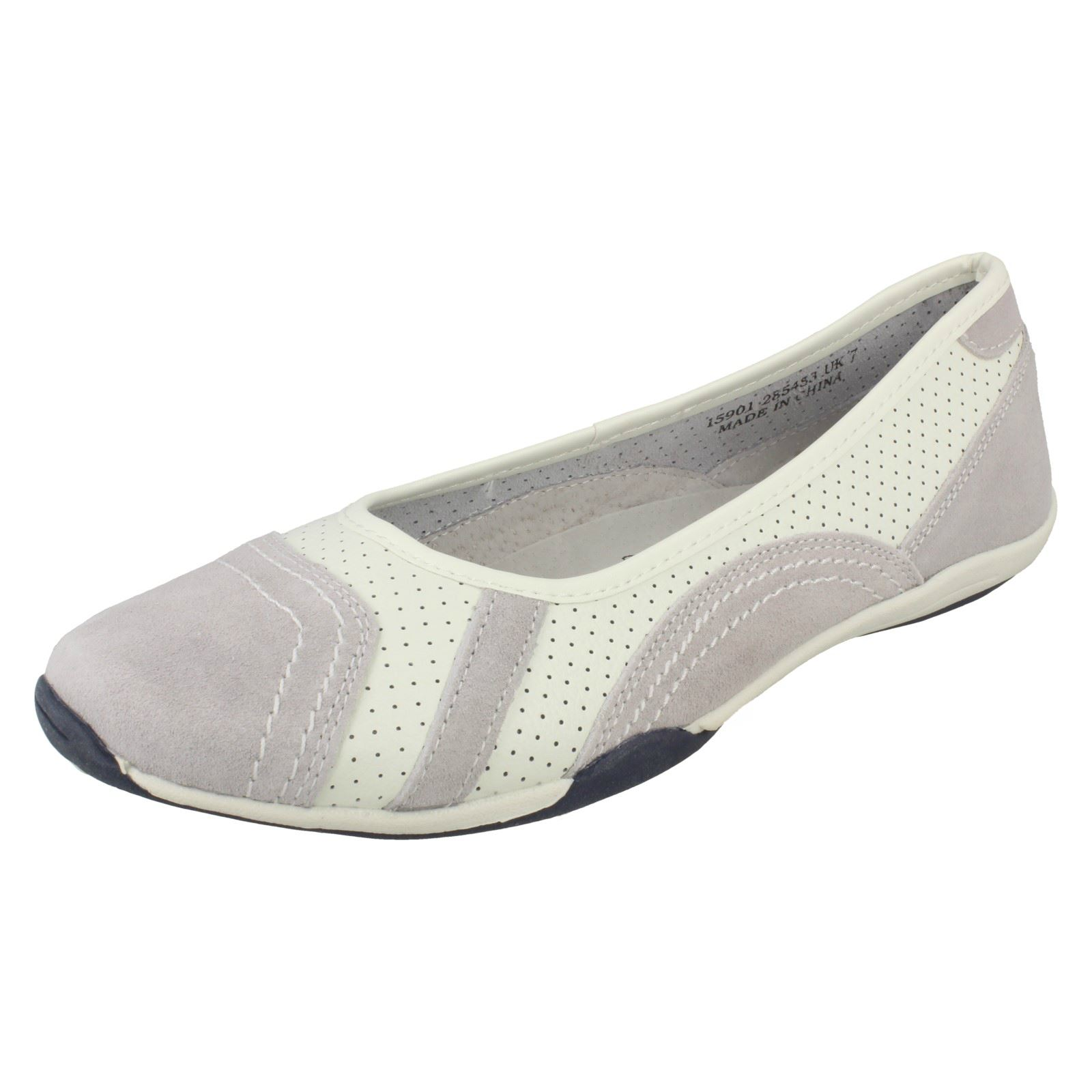 /'Ladies Down To Earth/' Flat Ballerina Shoes F8R991//1
