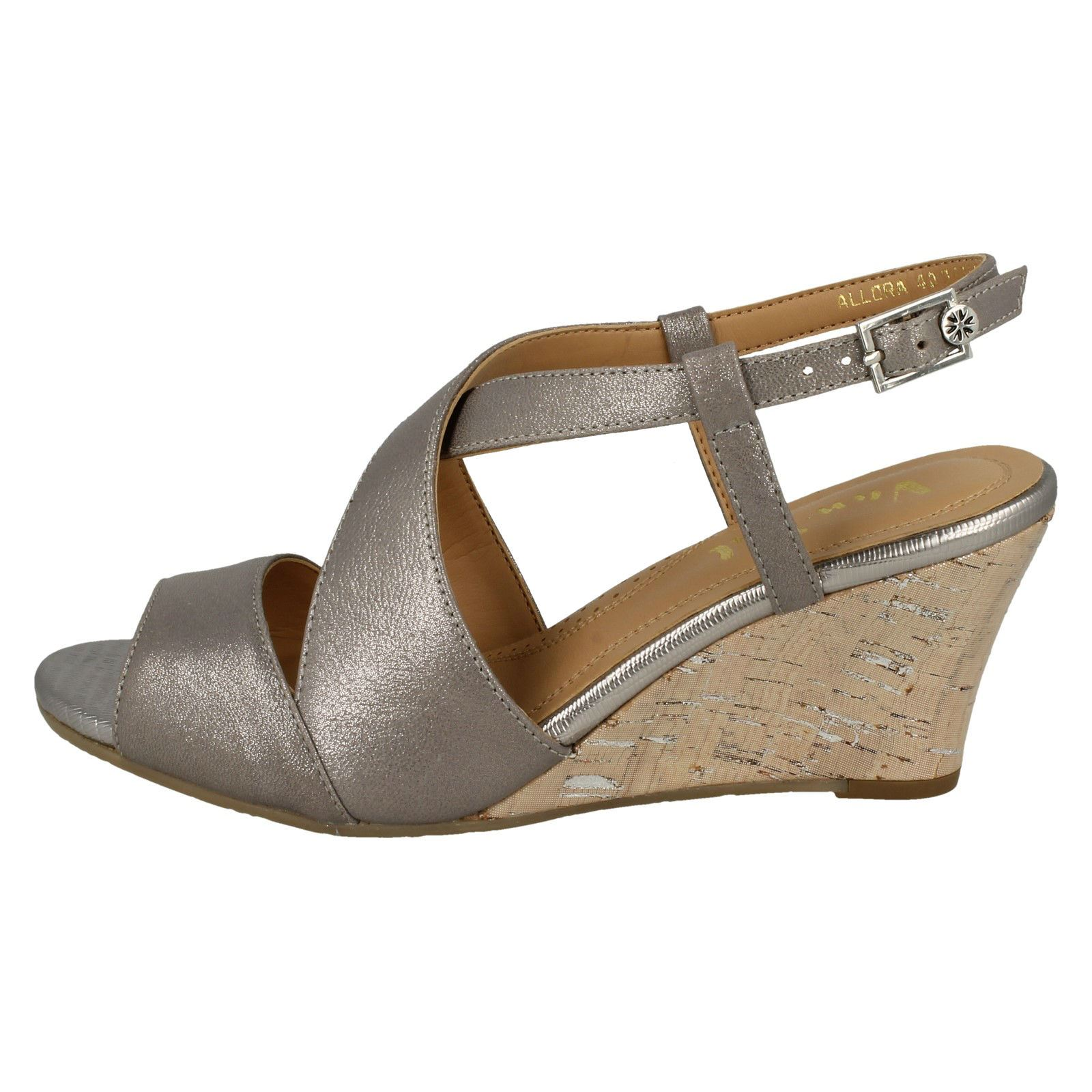 Ladies-Van-Dal-Cross-Strap-Wedged-Sandal-Allora thumbnail 28