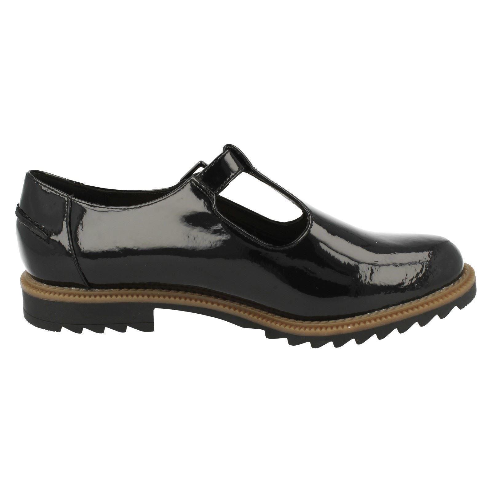 Ladies Clarks T-Bar Buckle Flat Shoes  Griffin Monty   867ac82ba8