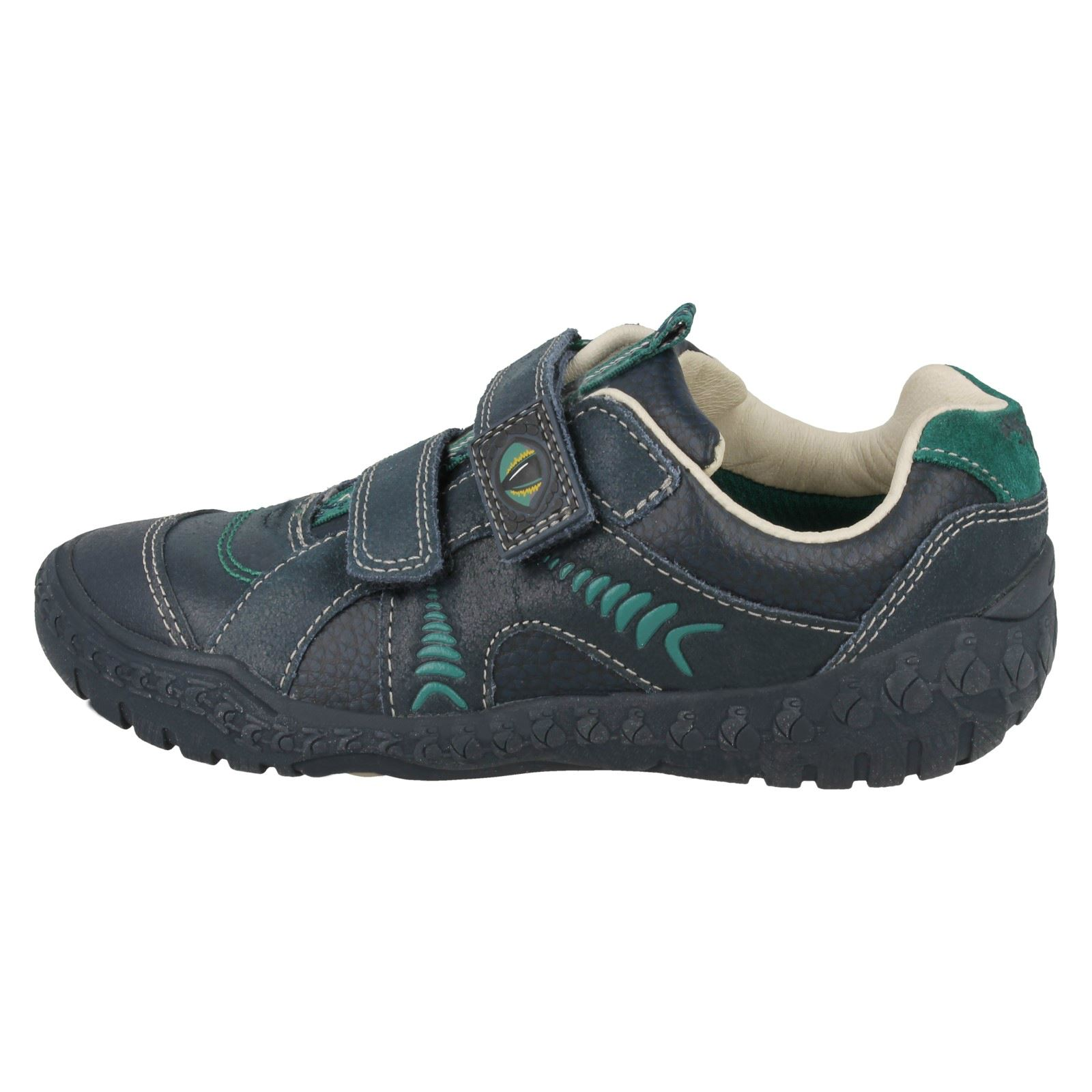 *  SALE BOYS CLARKS STOMP CLAW RIP TAPE SHOES