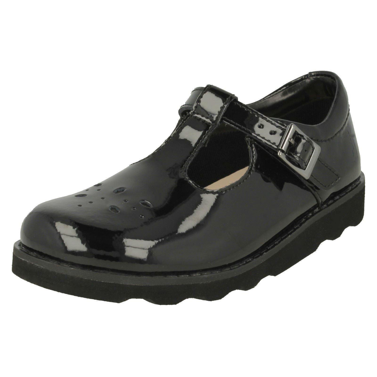 Clarks Zapatos de chicas Classic T-Bar Corona deseo