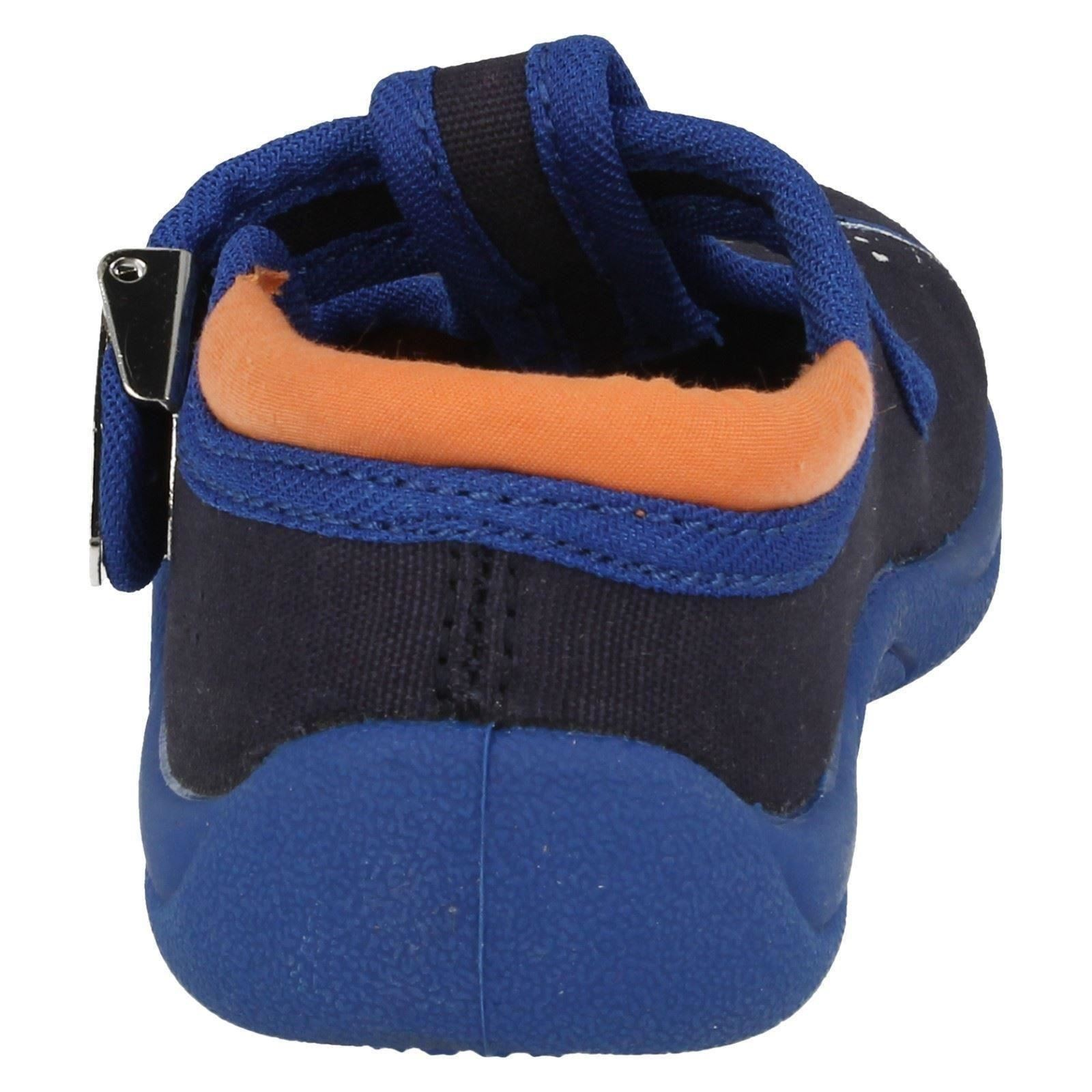 Boys Startrite Buckled Canvas Shoes Surfs Up