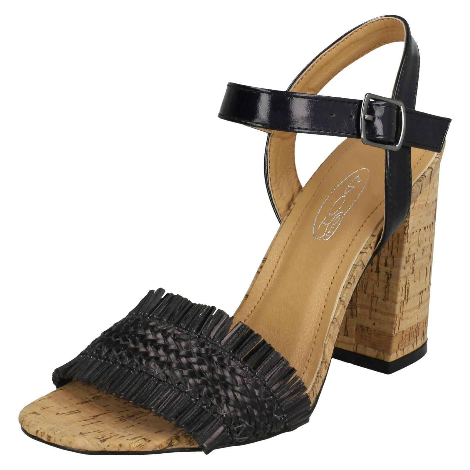 Spot On Donna Tacco Largo Sandali con cinturino alla caviglia