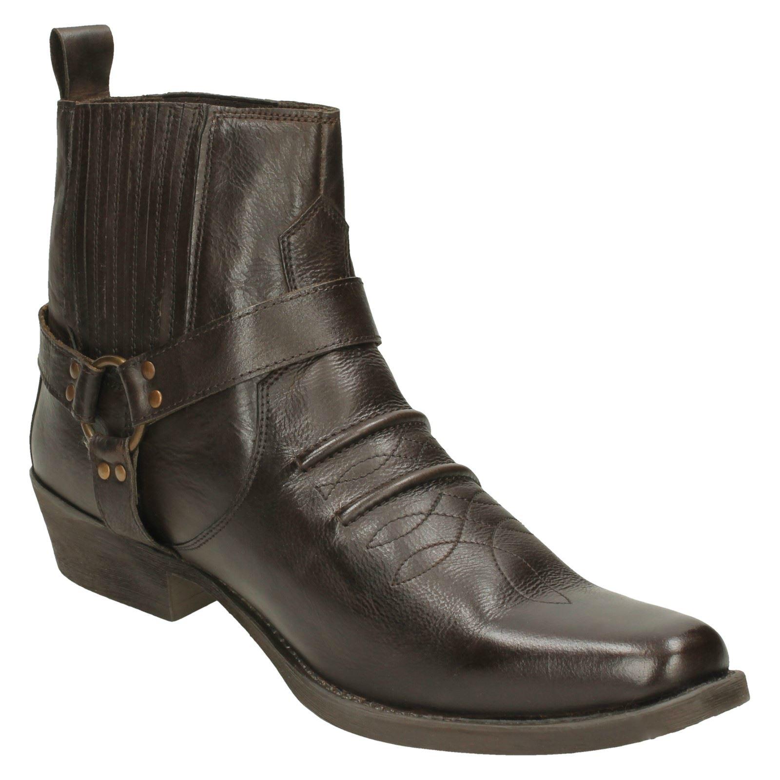 Mens Slip Maverick Slip Mens On Cowboy Ankle Boots ab76f4