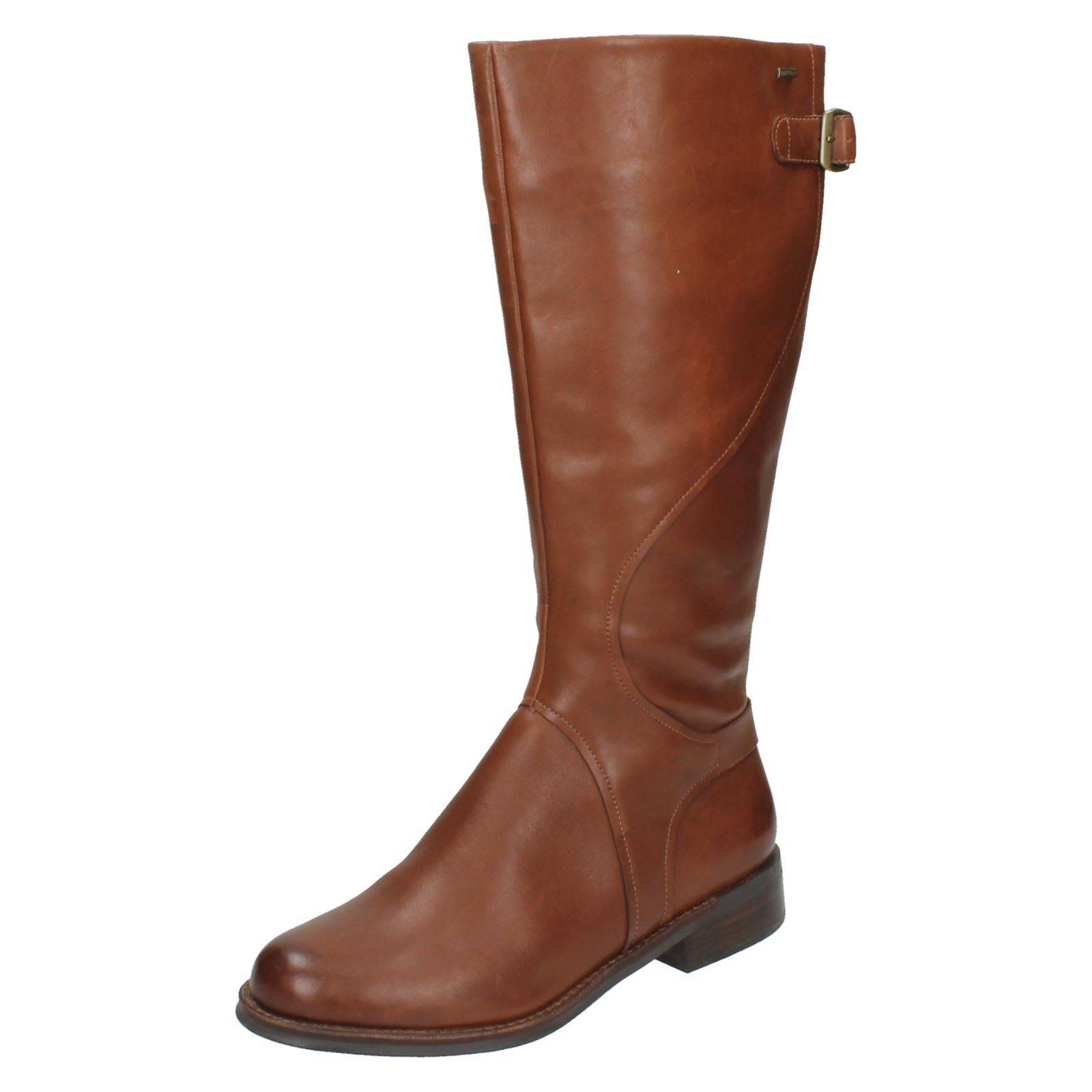 Ladies clarks gore tex high leg boots mara sand ebay for Clarks mural fresco boots