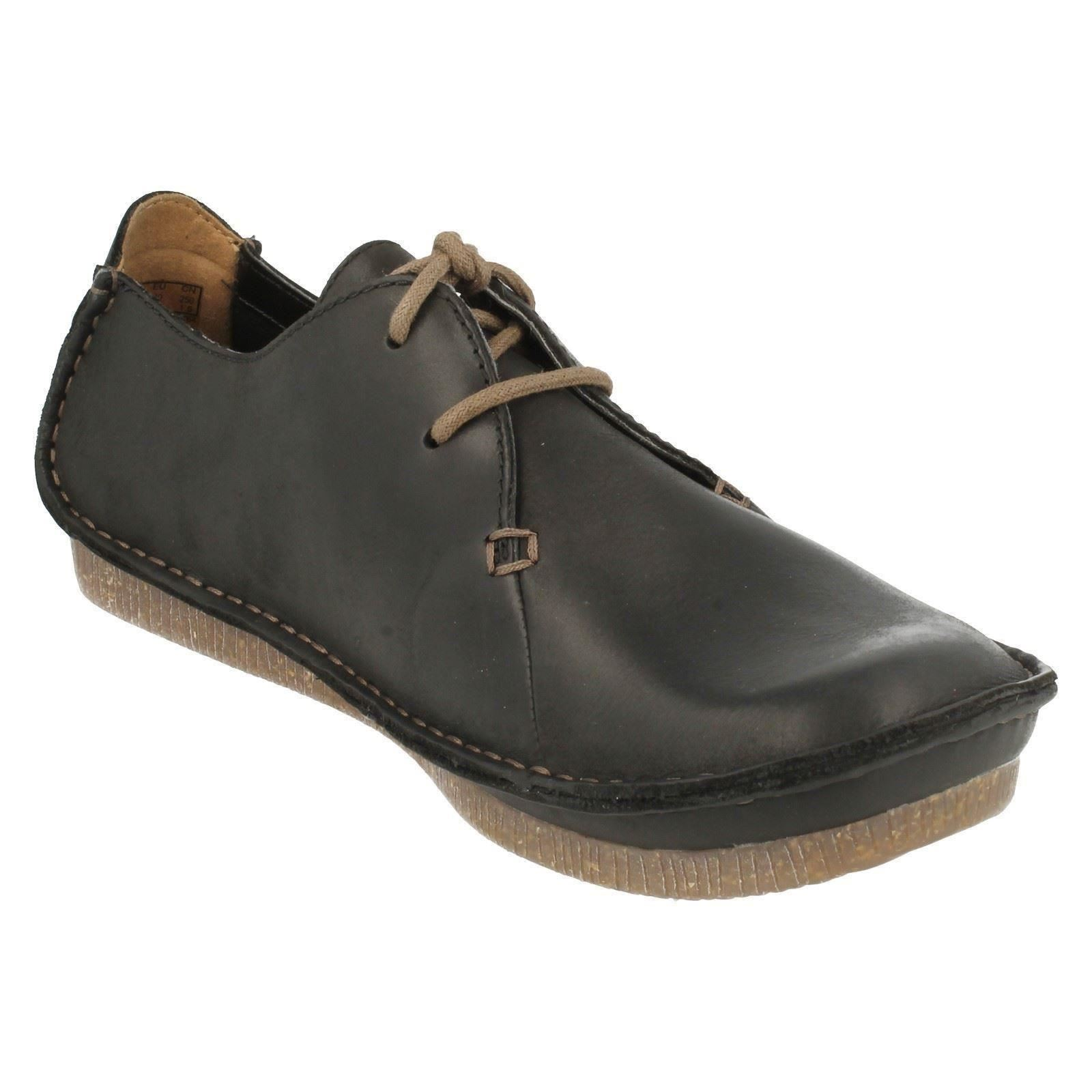 Clarks-Ladies-Casual-Lace-Up-Leather-Flat-shoes-