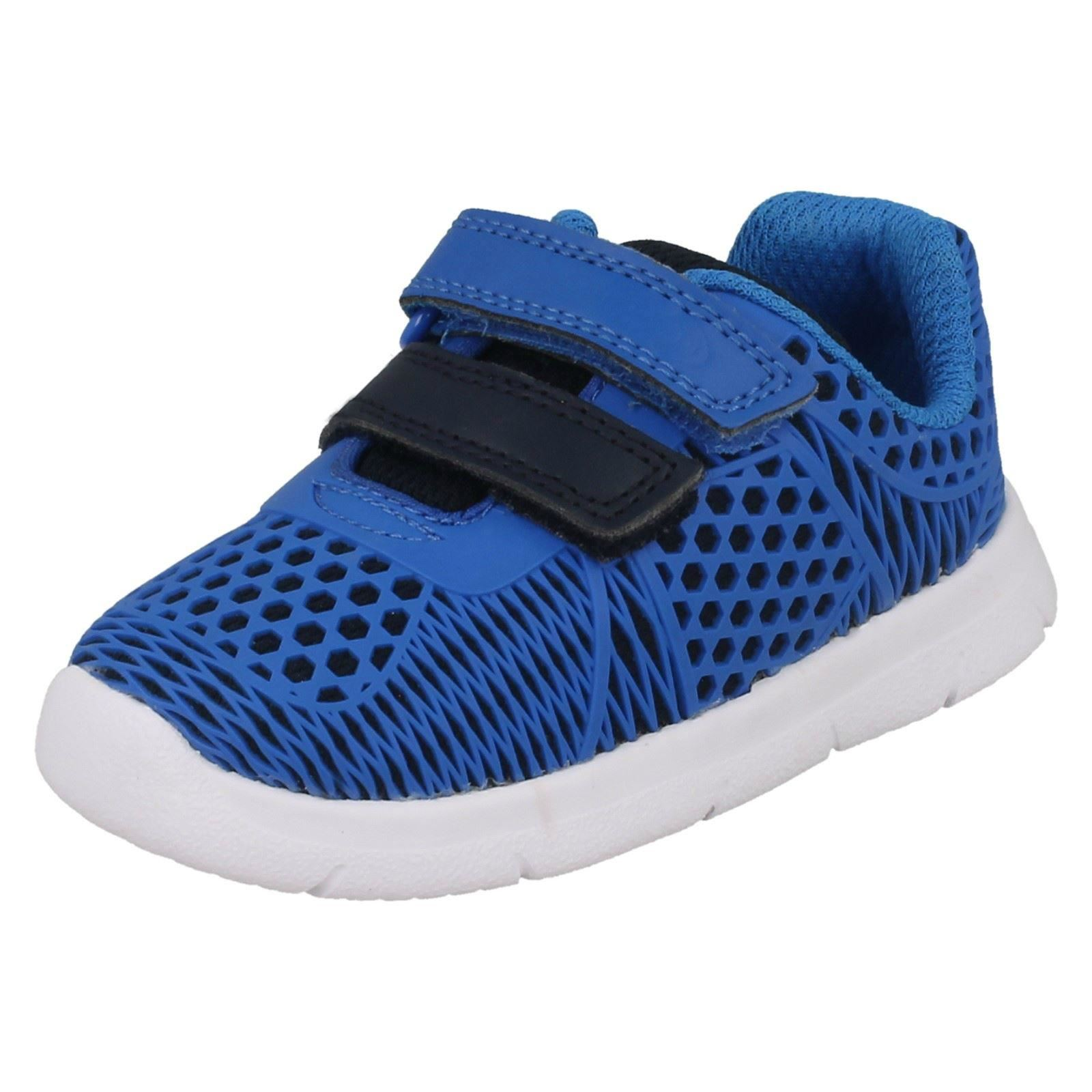 Infant Boys Clarks Hook & Loop Trainers Ath Lane