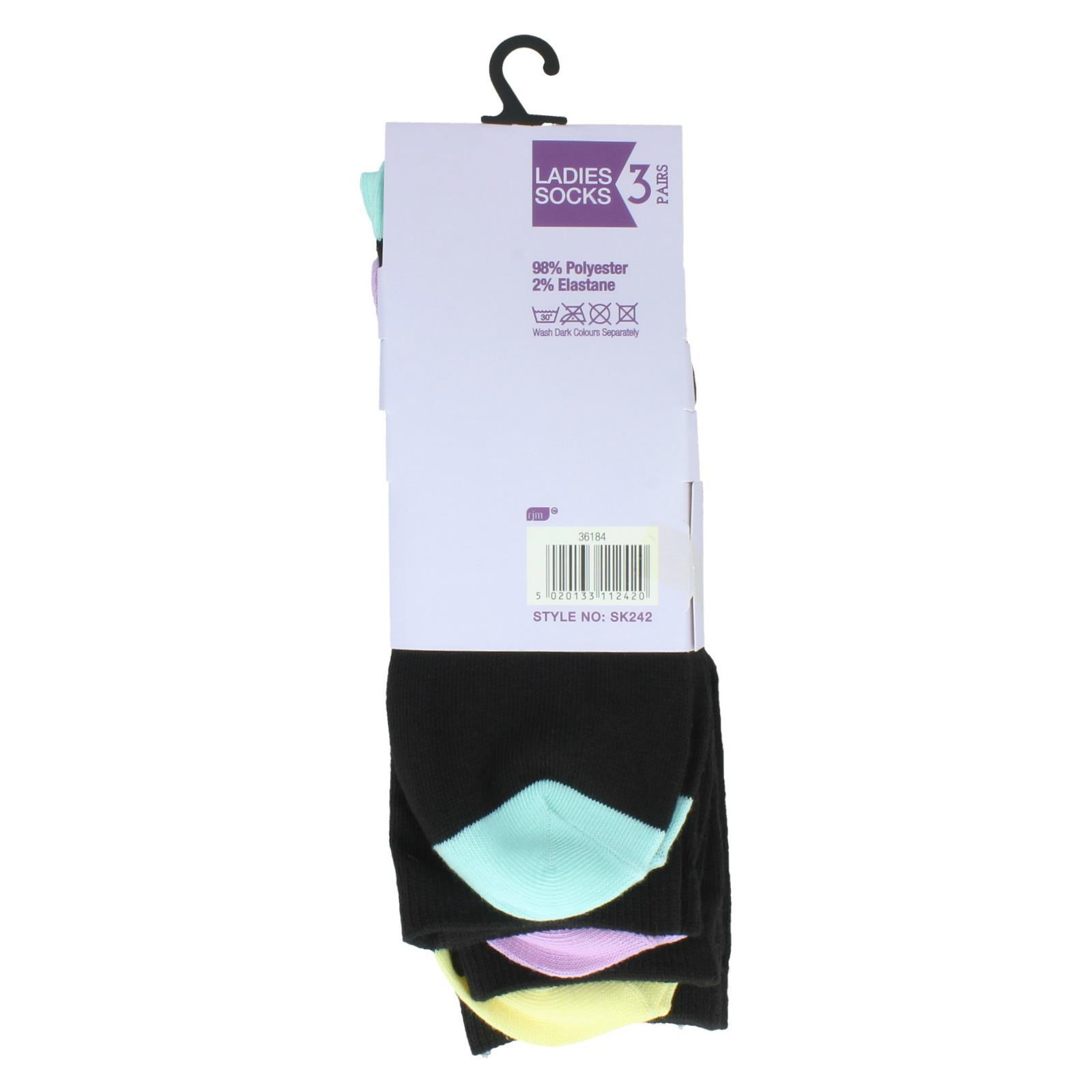 Ladies RJM 3 Pack Socks SK242