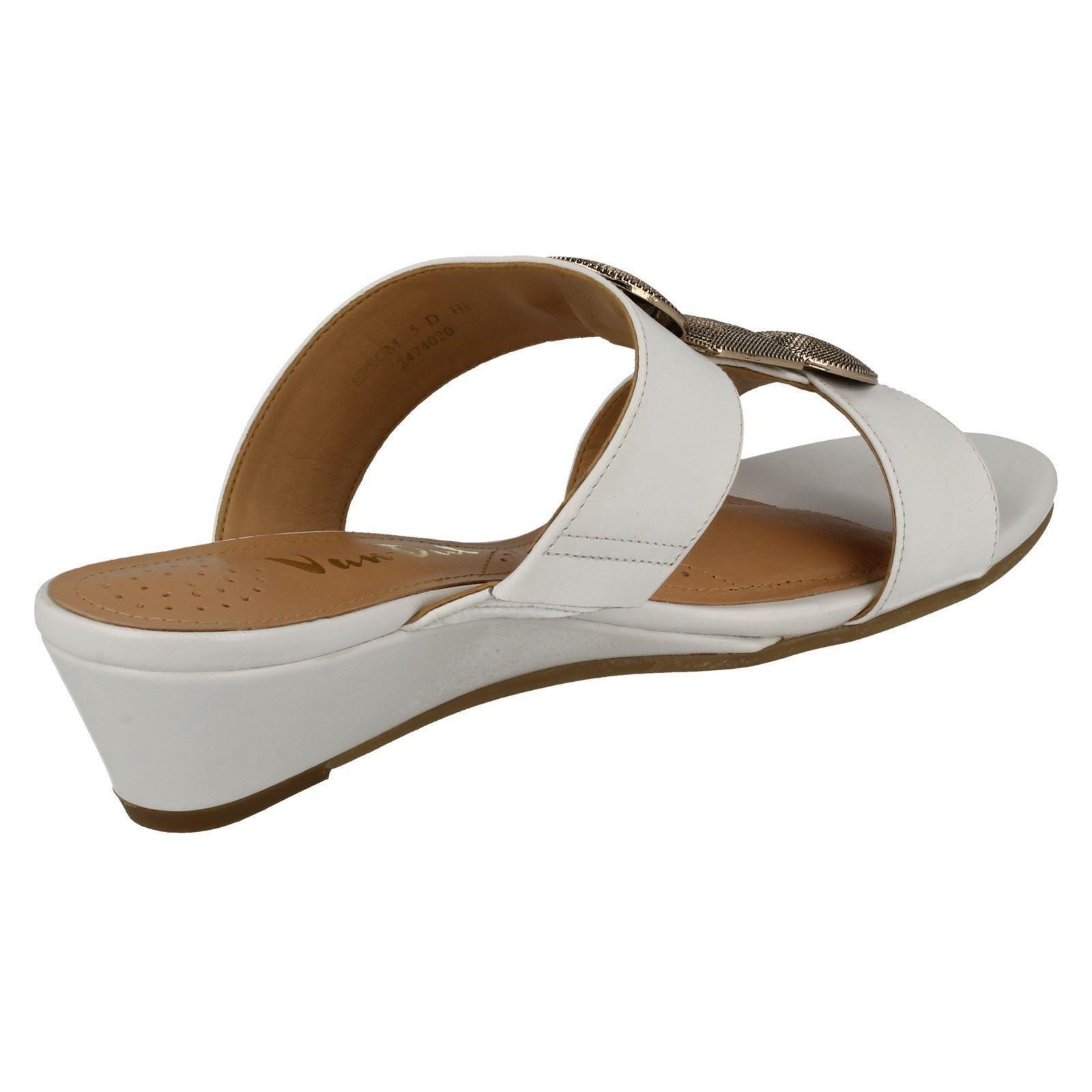 Ladies-Van-Dal-Open-Toe-Slip-On-Summer-Low-Wedge-Leather-Sandals-Epsom thumbnail 6