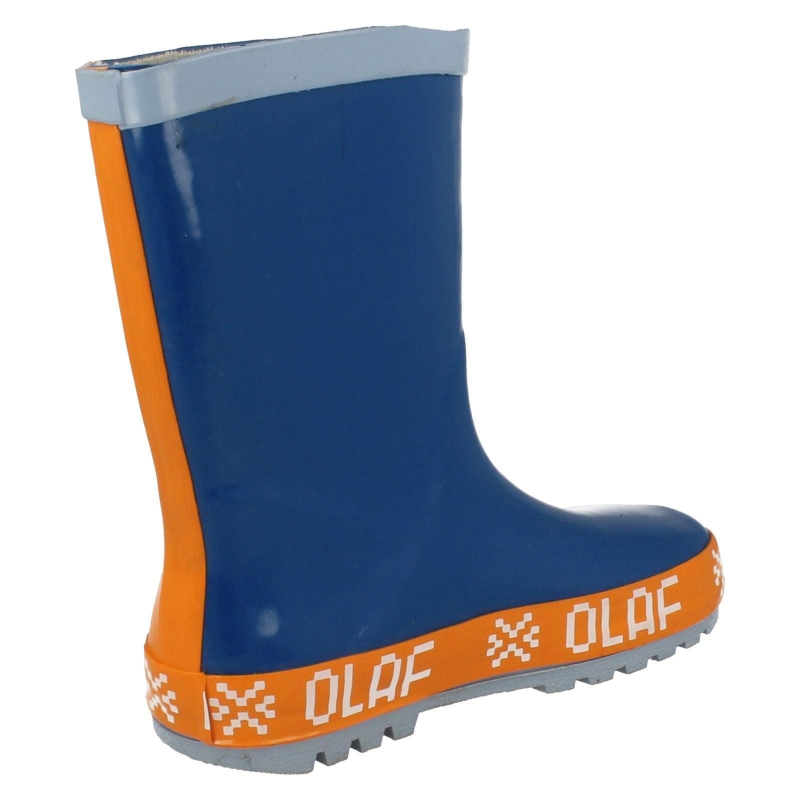 Chicos carácter Diseño Frozen Olaf Wellingtons