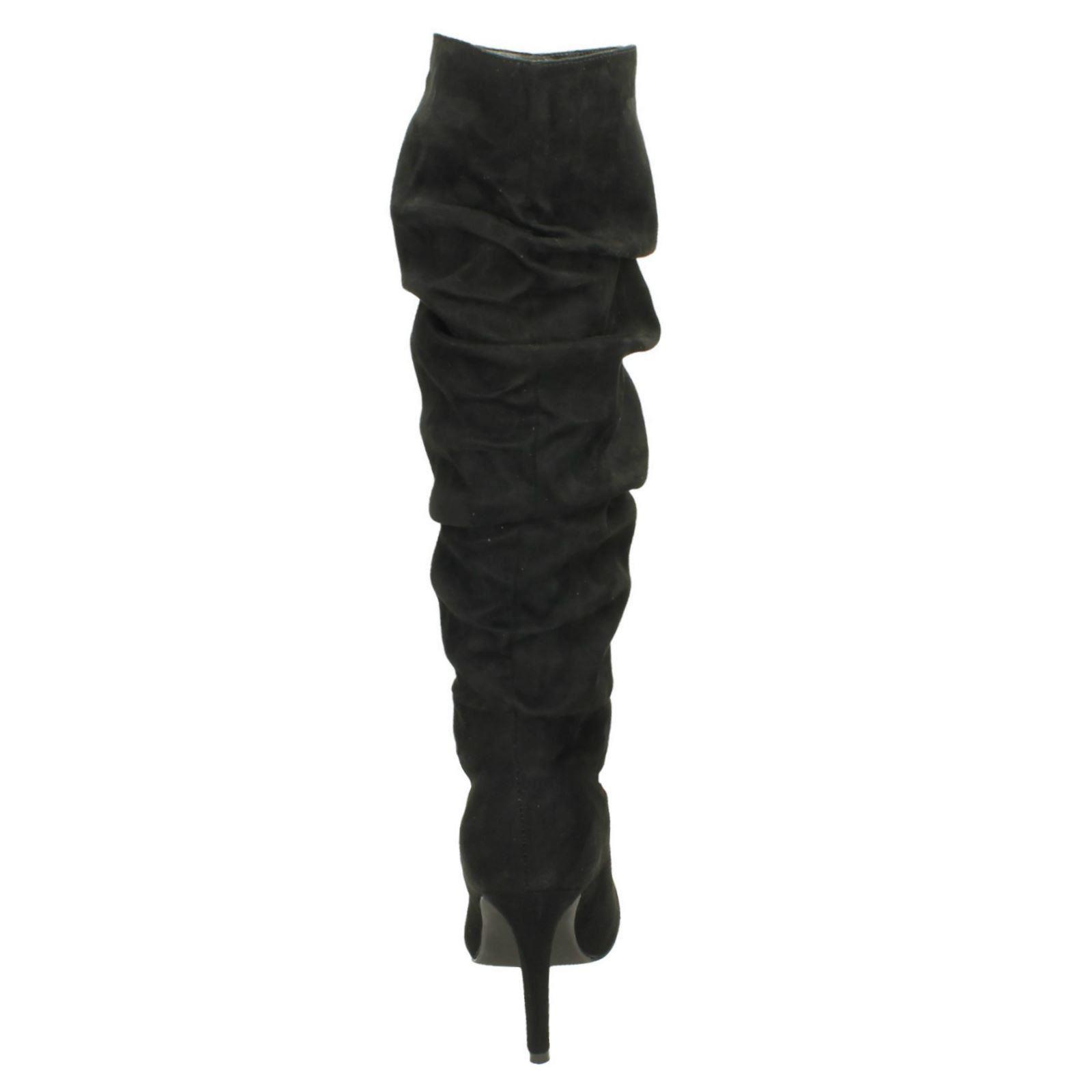 Slouch 'spot Boots Leg Knee Black On' High Ladies pwqZCxx