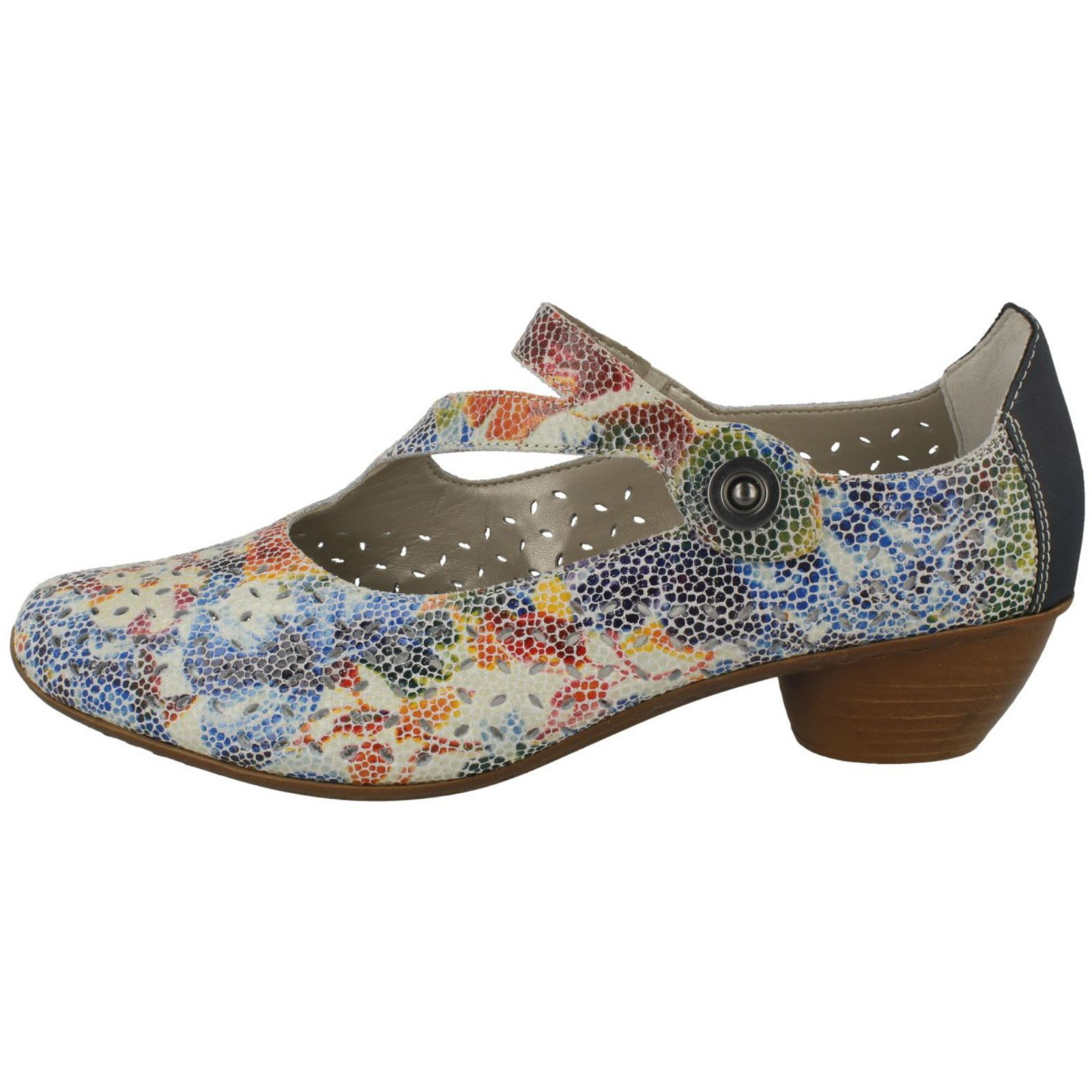 Multi Smart Shoes Ladies '43777' Rieker Heeled nBXxxZq