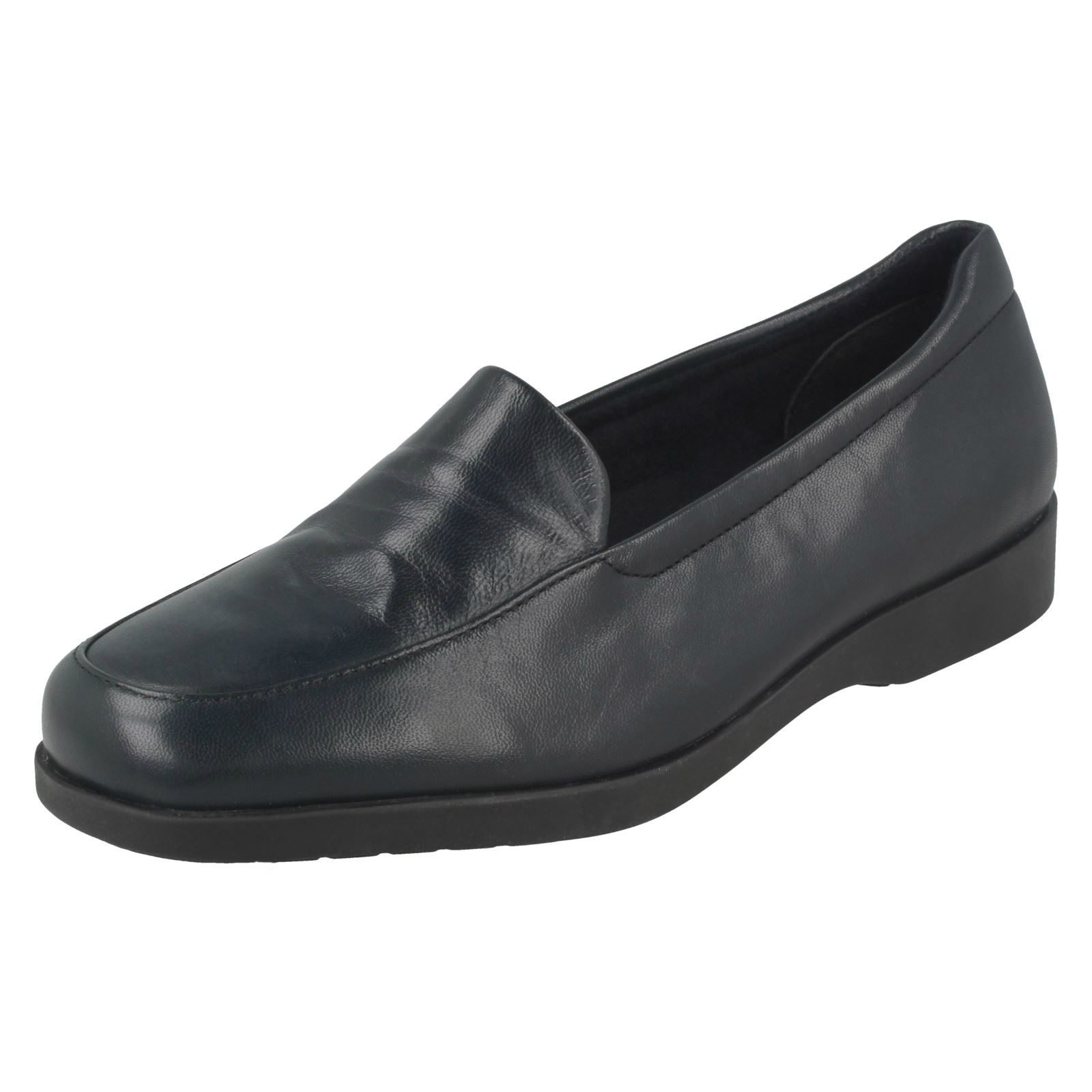 Ladies Clarks Flat Loafer Style Casual Slip On Leather Shoes Georgia
