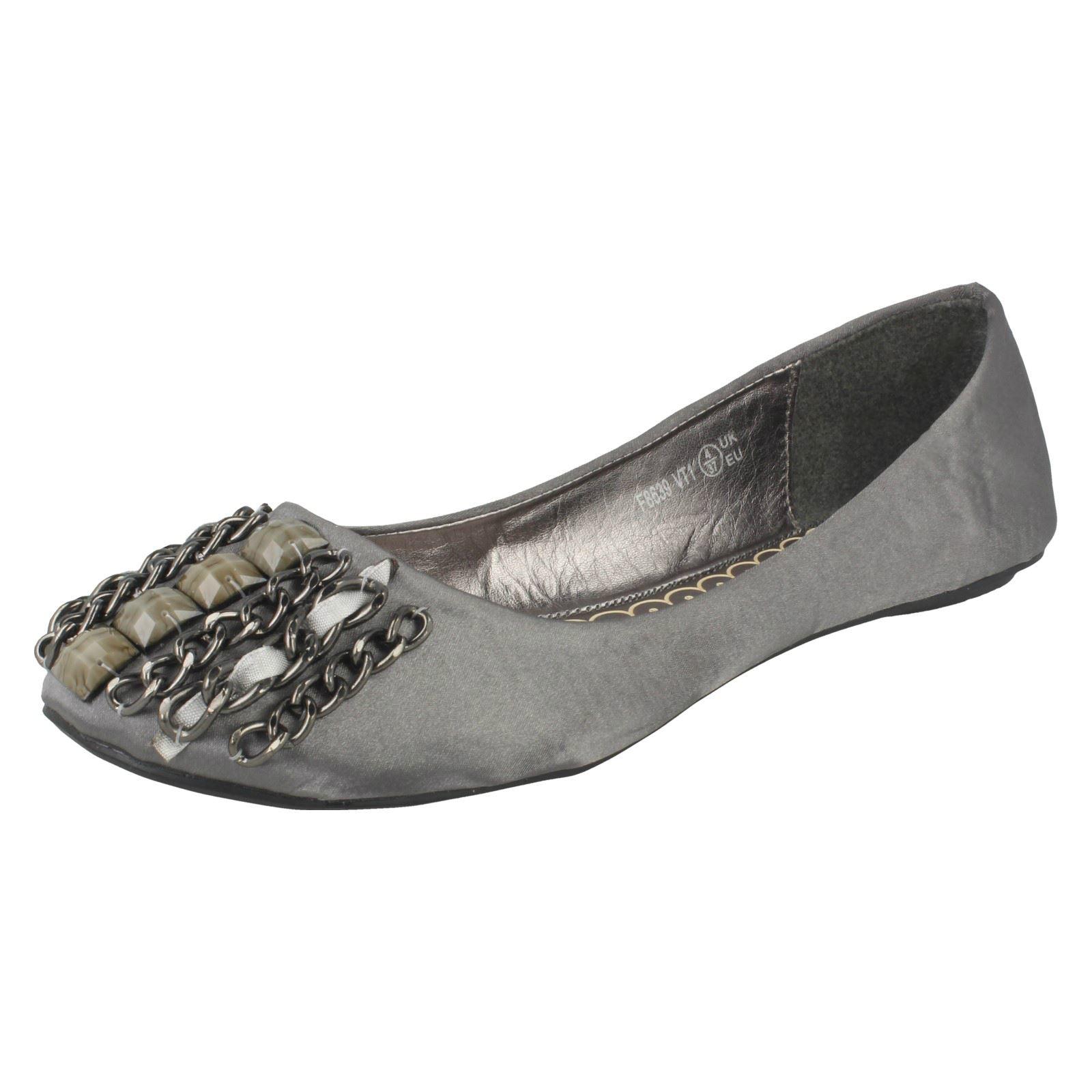 Damas Spot on Flat Casual Zapatos De Bailarina