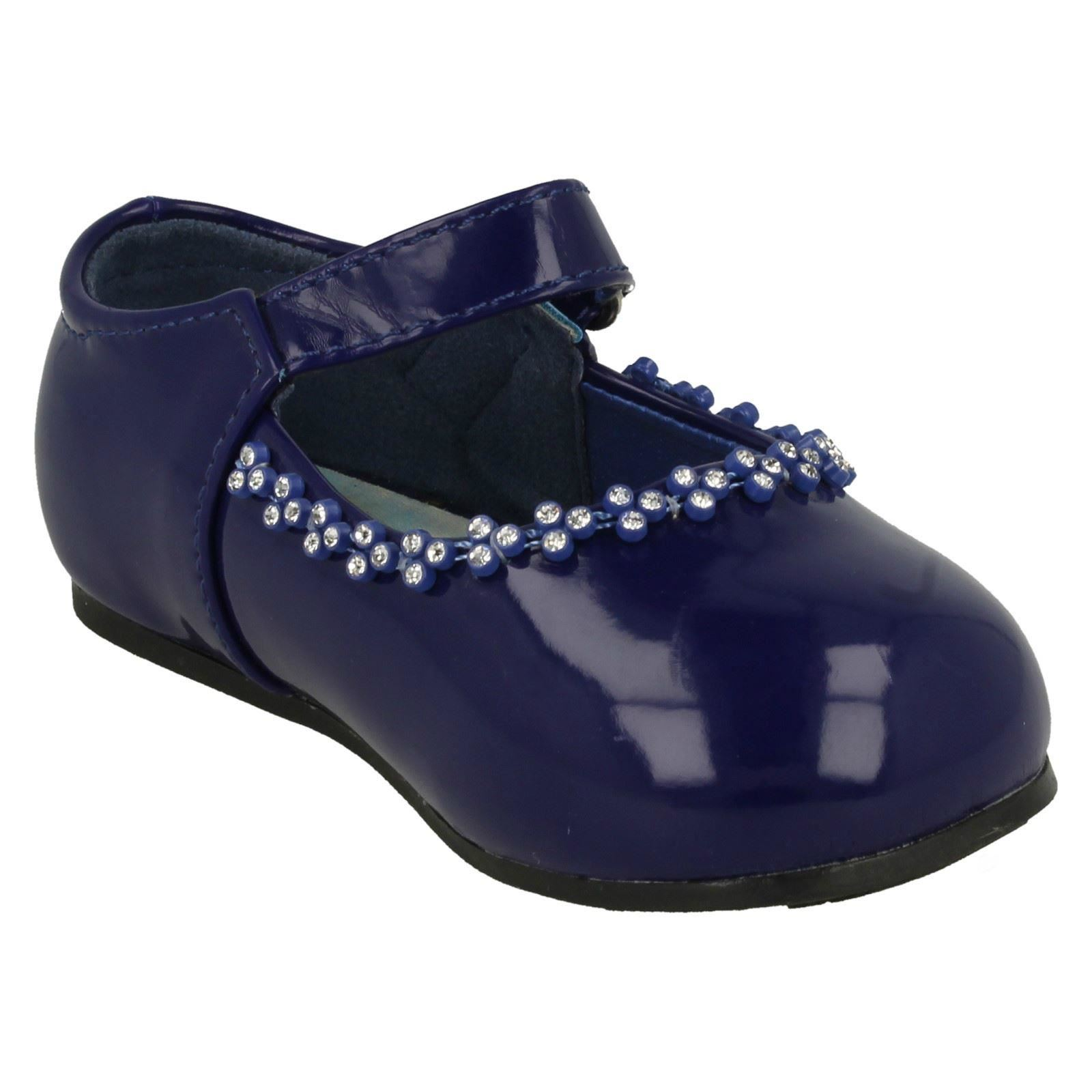 Girls Spot On - Diamante Detail Party Shoes