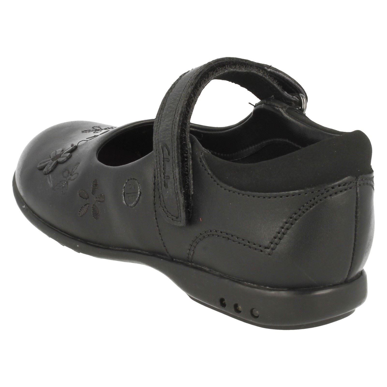 Clarks Girls Riptape Fastening School Shoes Breena Toes