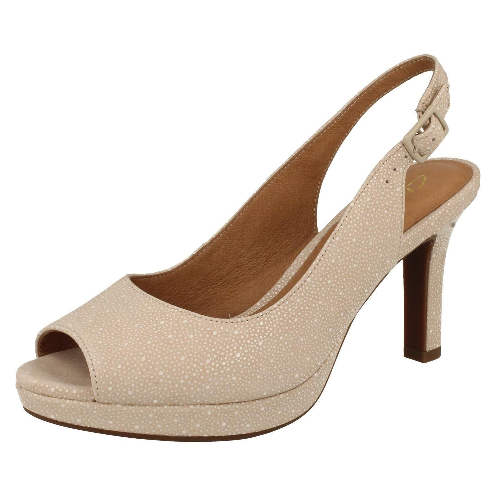 Ladies Clarks Mayra Blossom Heeled Sandals  bb7aa4228d