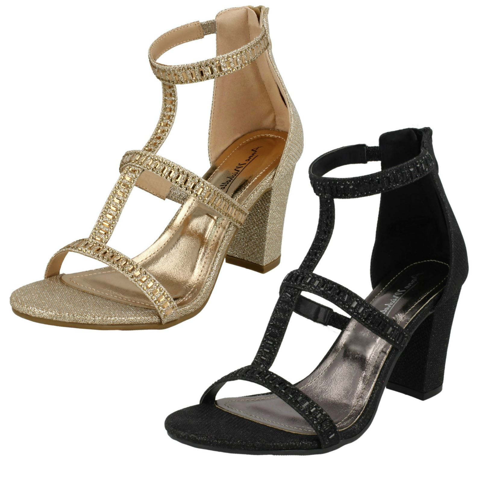 Ladies Anne Michelle Diamante /'Sandals/'