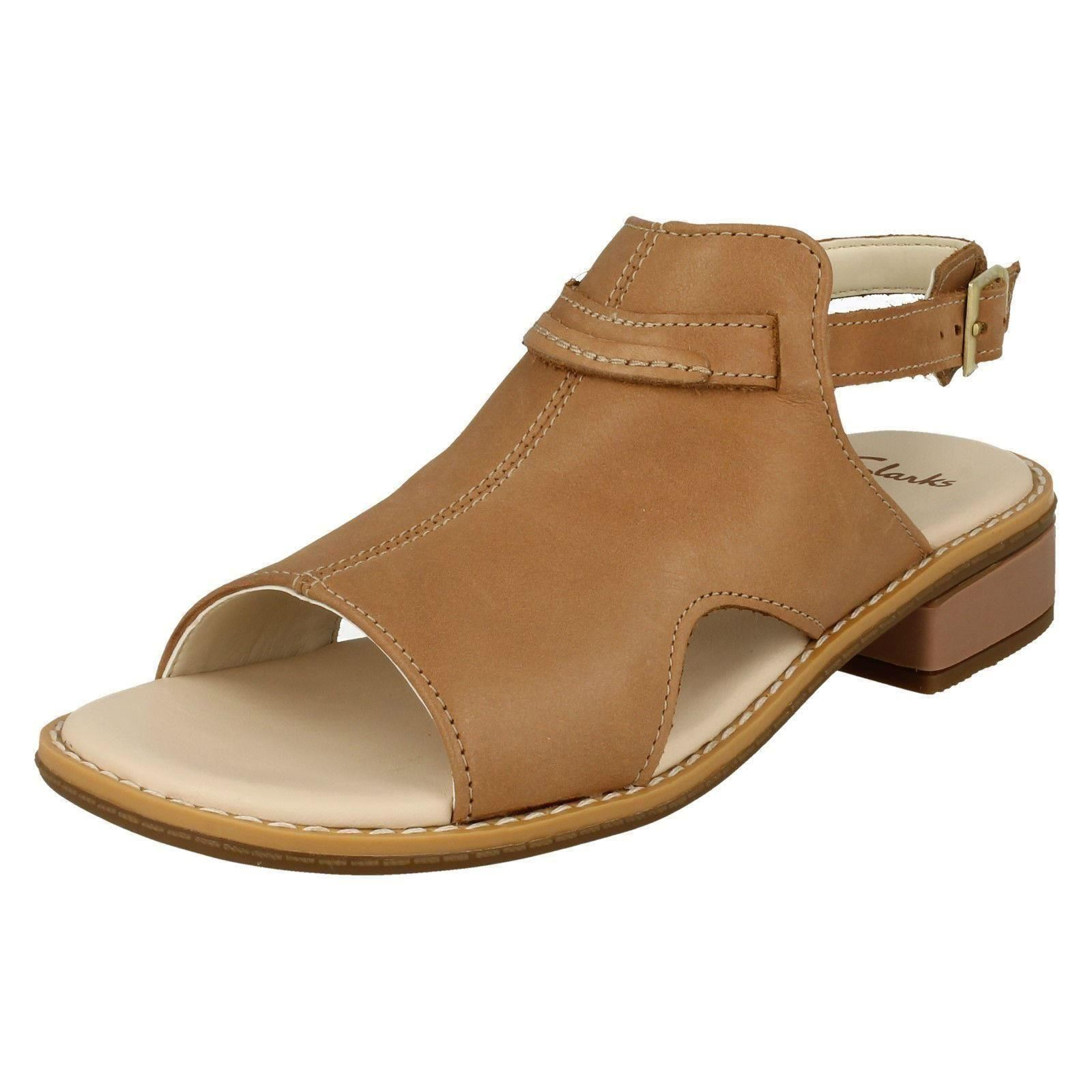 742d15ef8e48 Details about Girls Clarks Low Heel Slingback Sandals Darcy Lily