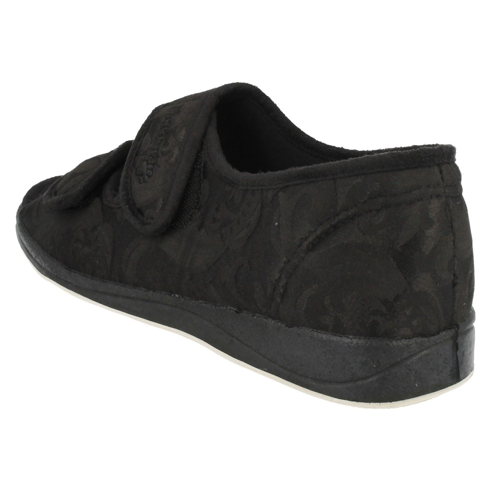 Lydia /'Ladies Padders/'  Wide Fitting Open Toe Slippers