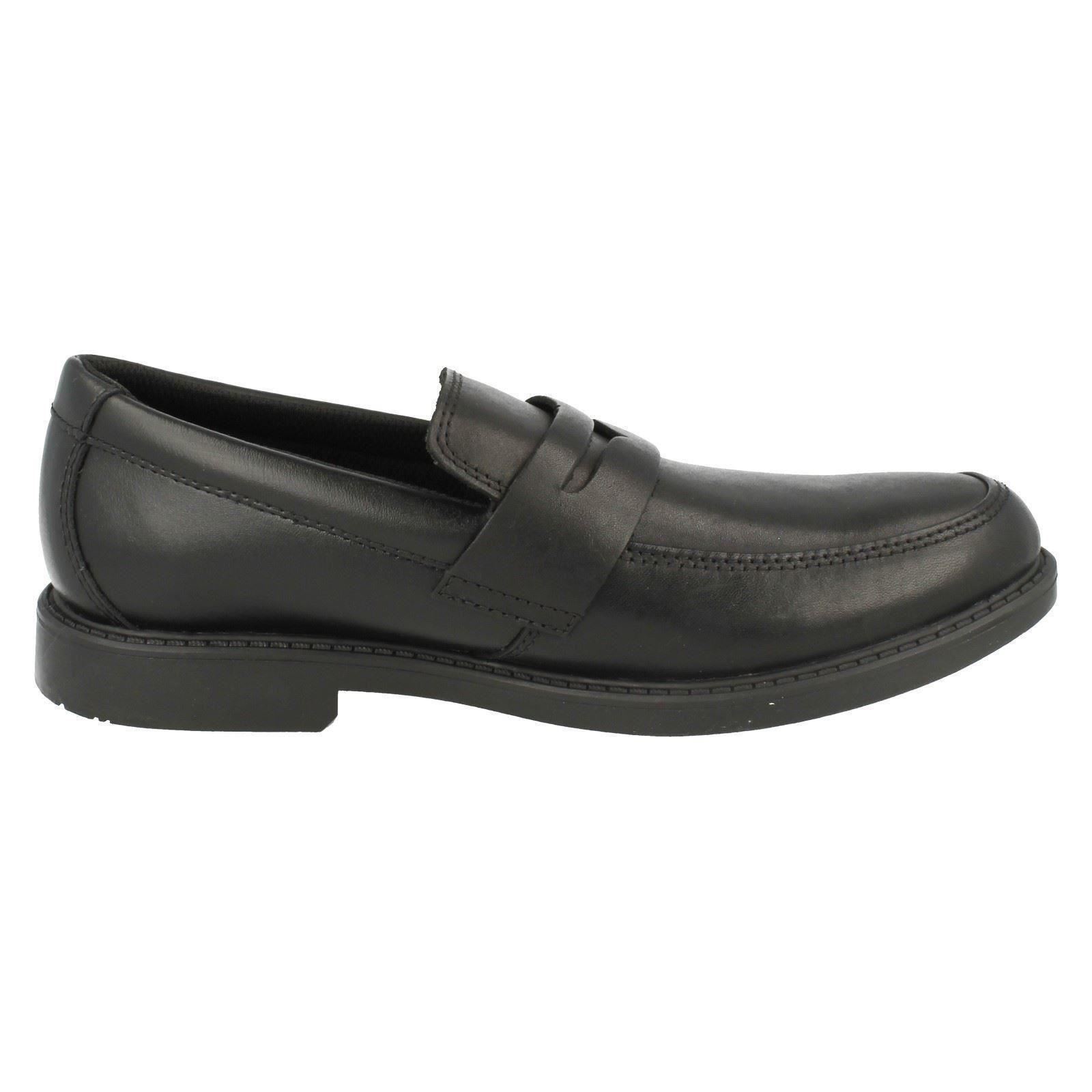 Chicos Clarks Zapatos Escolares Slip On Zayne