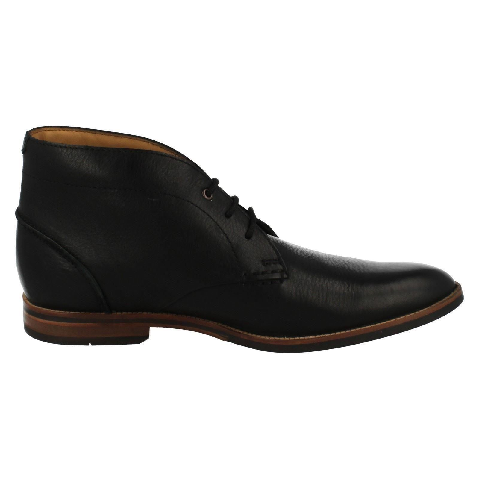 Herrenschuhe Mens Clarks Smart Ankle Boots Broyd Mid