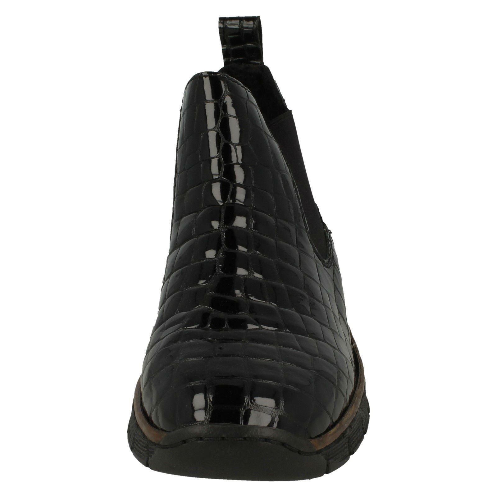 Womens Rieker Wedge Heel Heel Heel Ankle Boots-53794 e907ad