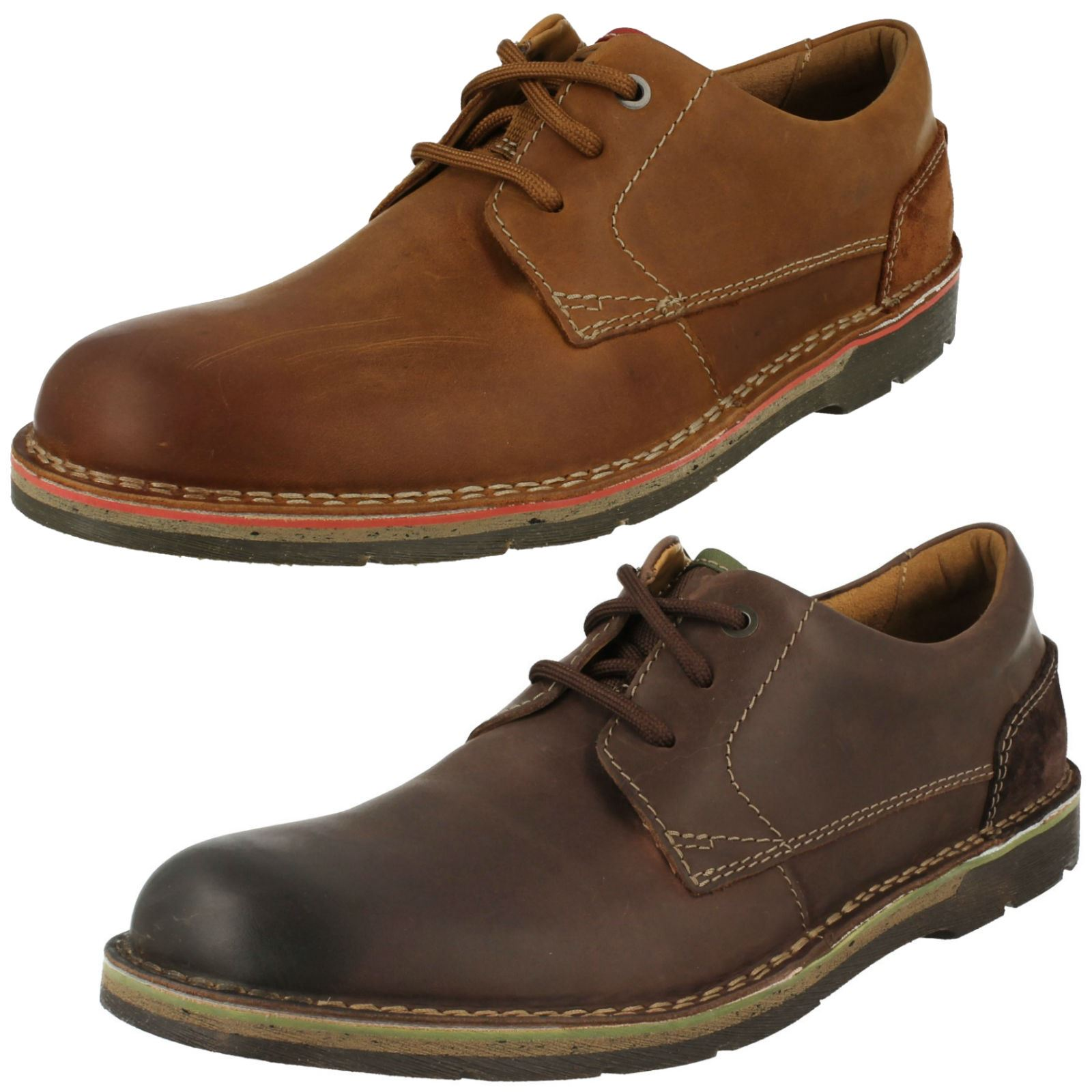 various design how to buy usa cheap sale Details about Mens Clarks Casual Lace Up Shoes 'Edgewick Plain'