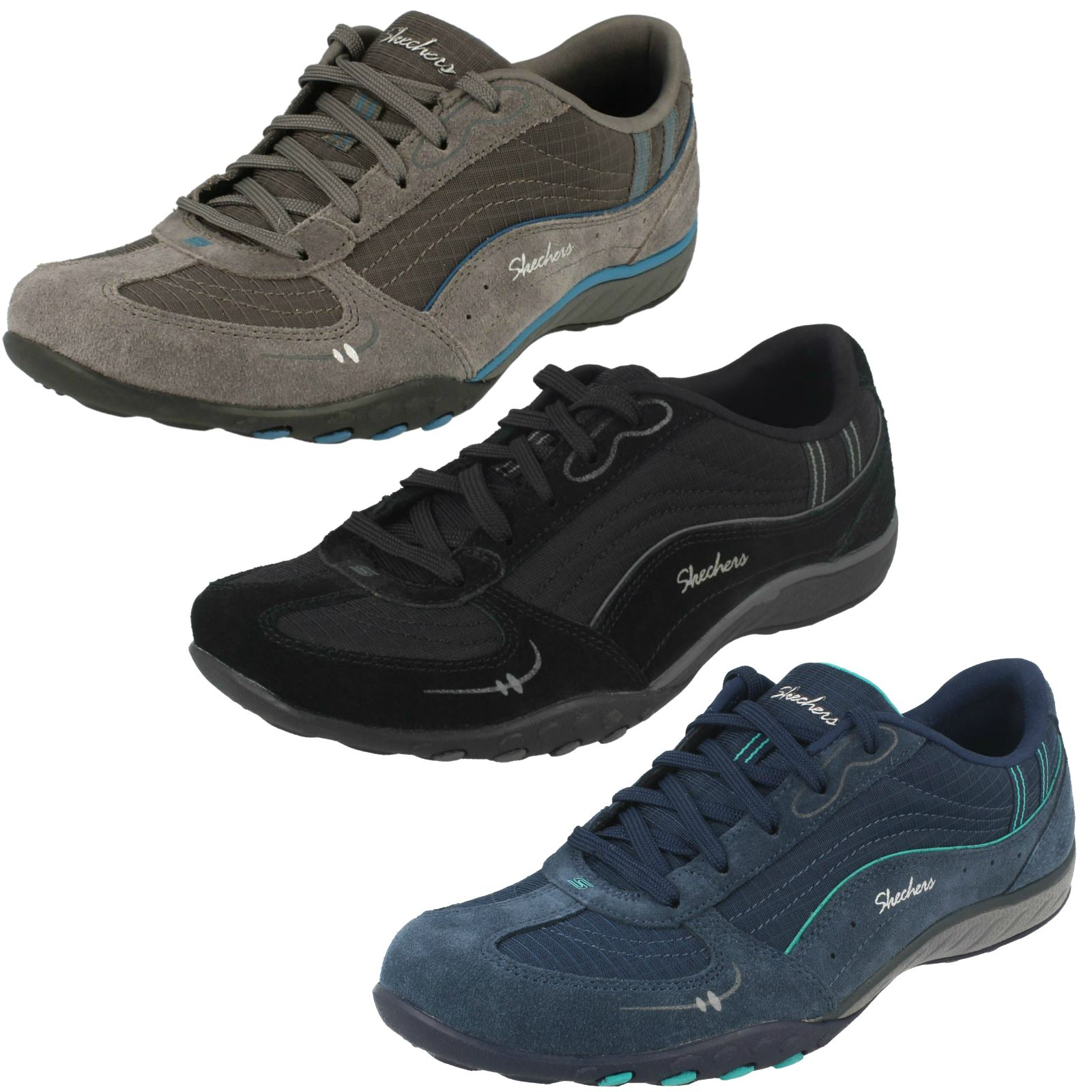 2644ddeac0cb Details about Ladies Skechers Breathe Easy Just Relax - Relaxed Fit Trainers
