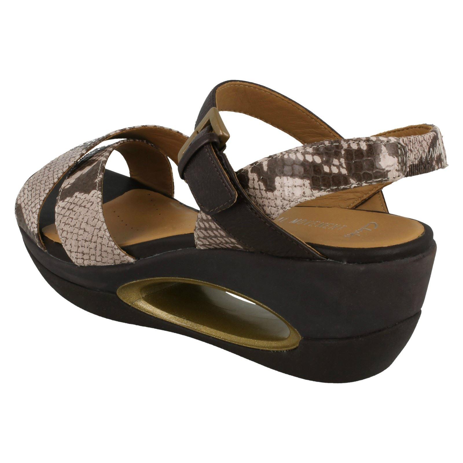 60ea0e797665 Ladies Clarks Natural Movement Wedge Sandals  Porcelain Lily