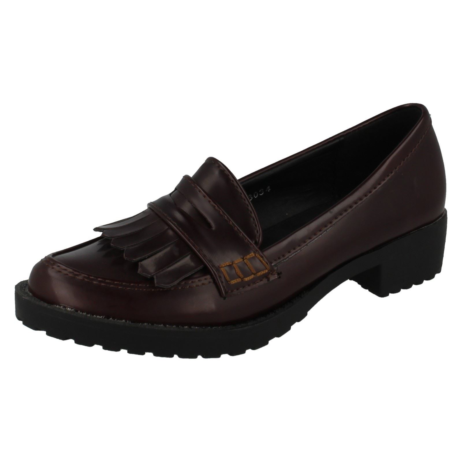 Girls Spot On Formal Loafer Flat - H3034