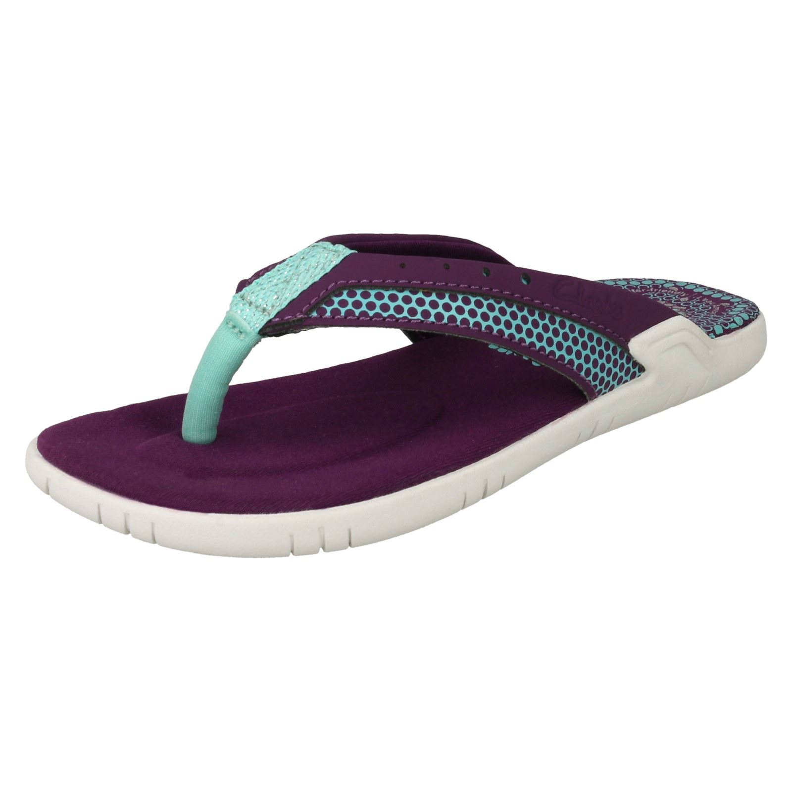 573373949a4 Girls Clarks Sandals Bonza Lass 11 UK Purple F. About this product. Picture  1 of 10  Picture 2 of 10 ...