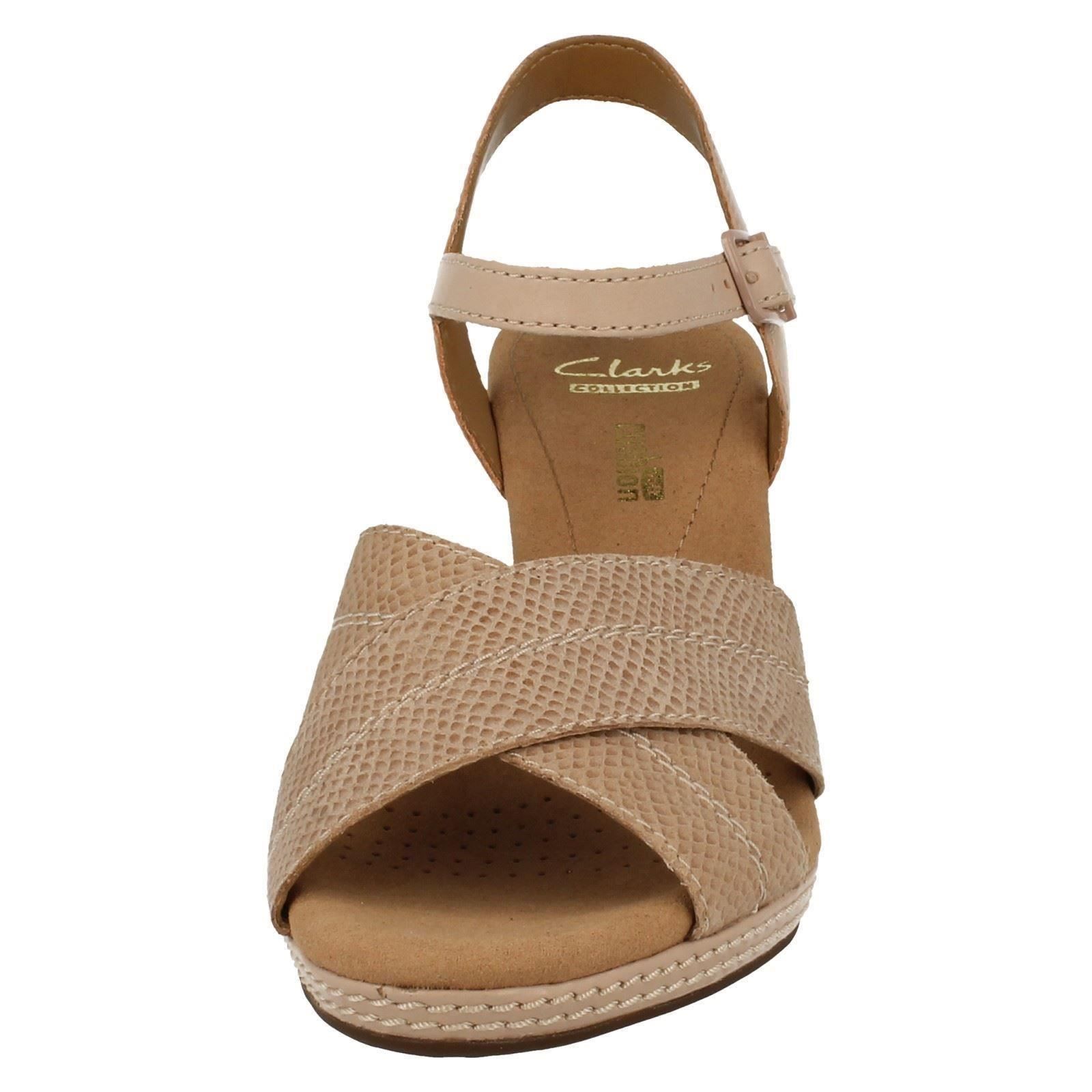Ladies Clarks Open Toe Wedge Sandals Helio Helio Helio Latitude 1fef9b