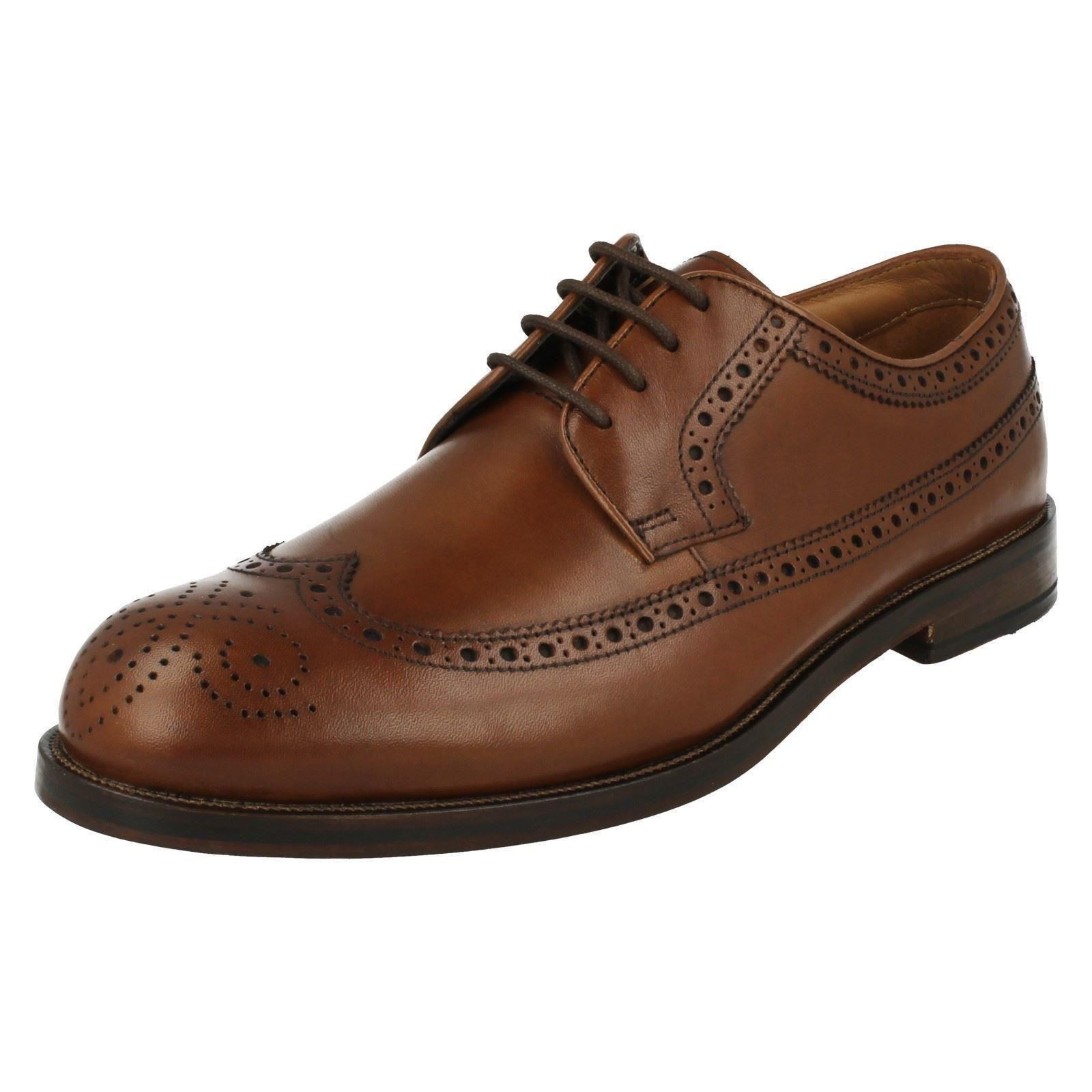86607242fd Mens Clarks Formal Brogue Style Lace up Shoes Coling Limit Tan UK 12 ...