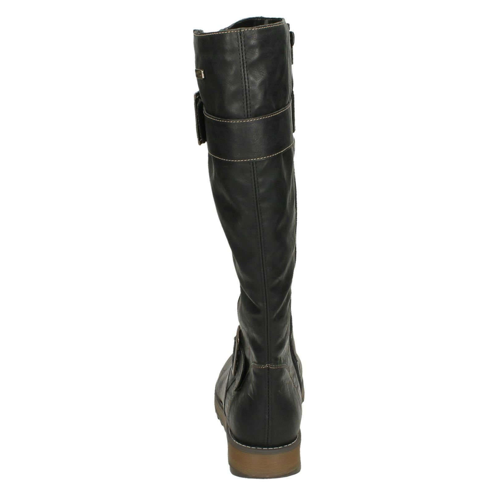 Ladies Remonte Knee High Warm Lined Boots With Remonte Tex /'D8886/'
