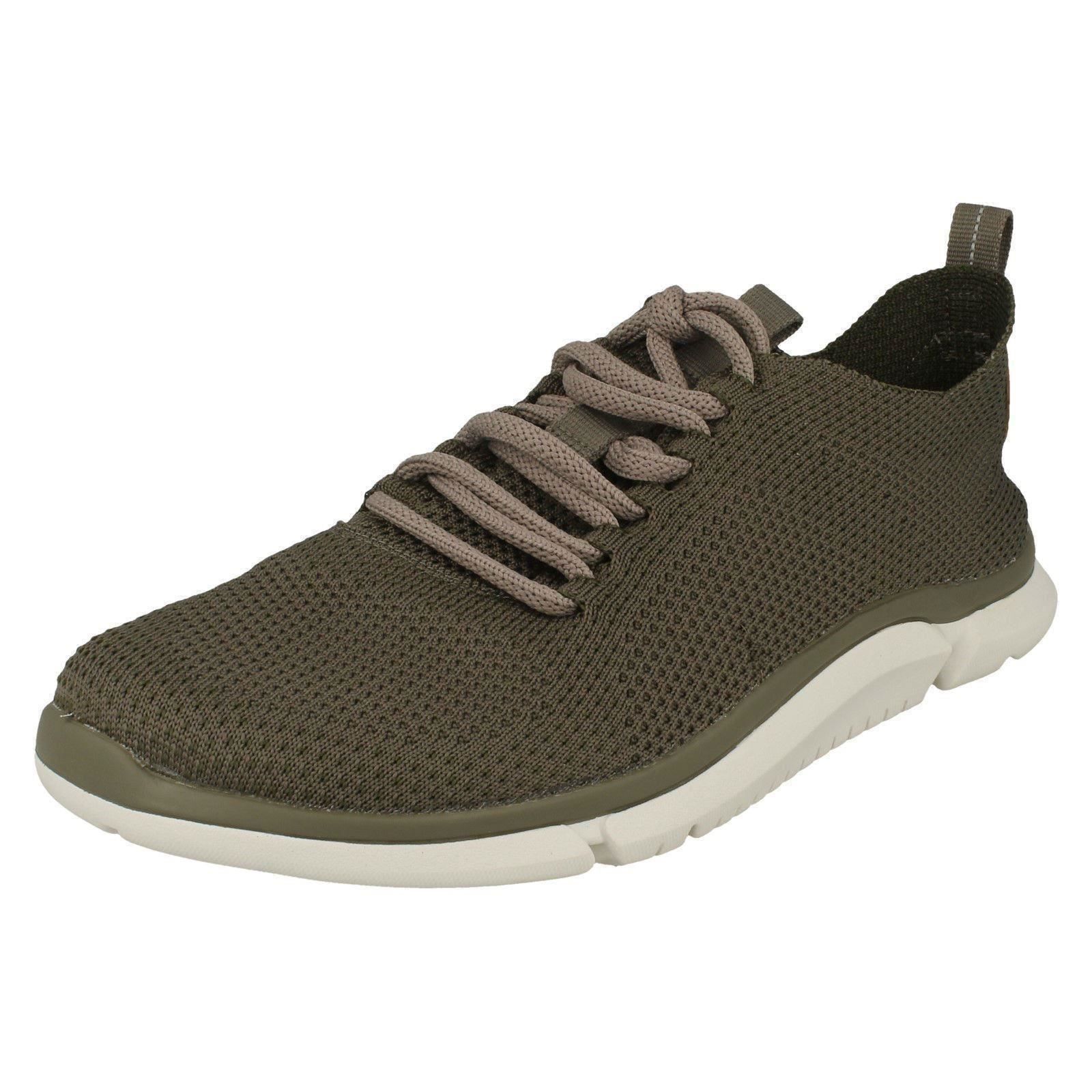 Uomo Clarks Lace Triken Up Trainers - Triken Lace Run 1fa29b
