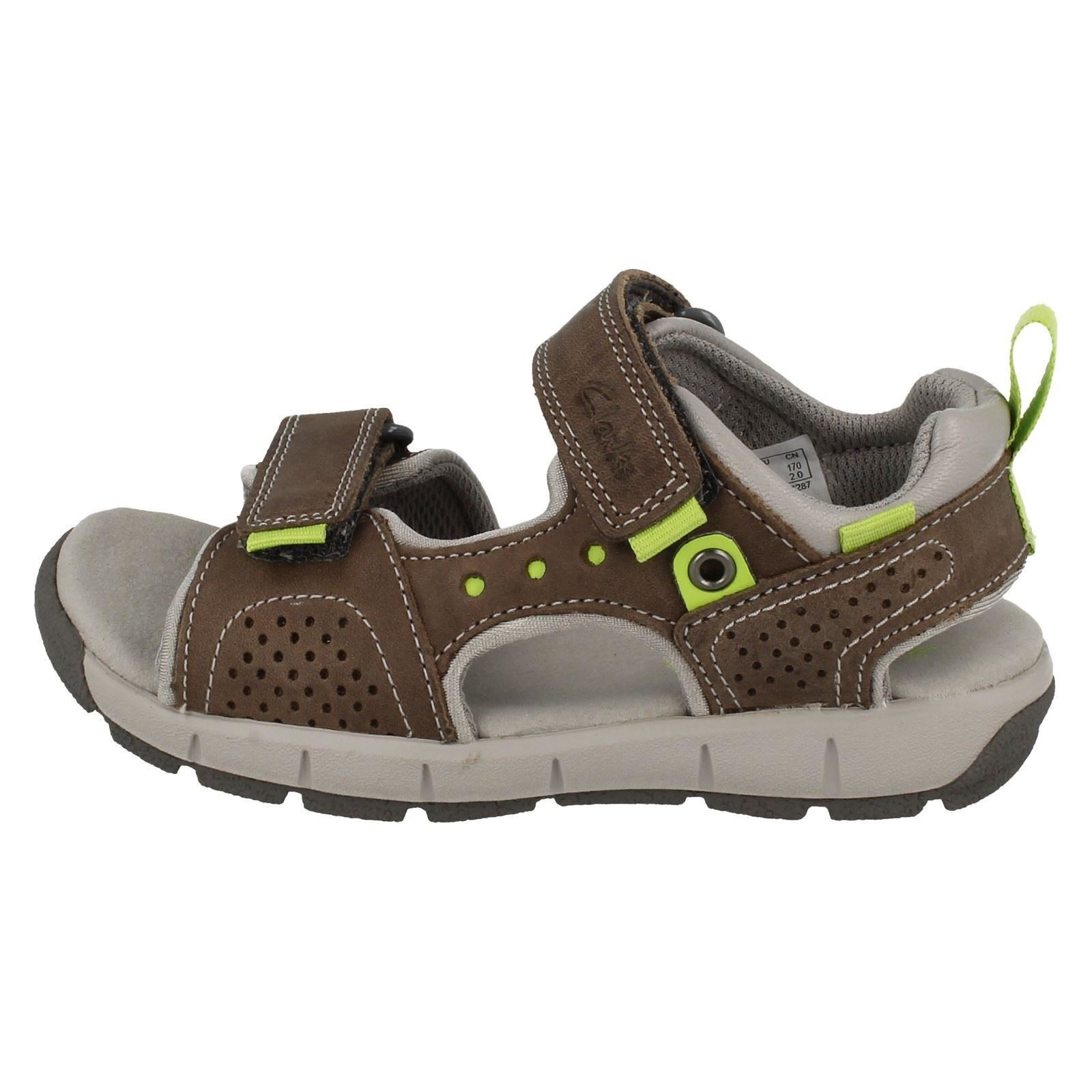 Infant Wild Loop Gray Sandalias cuero Hook Jolly Clarks de Casual de junior verano Boys 1wSqrgx1A