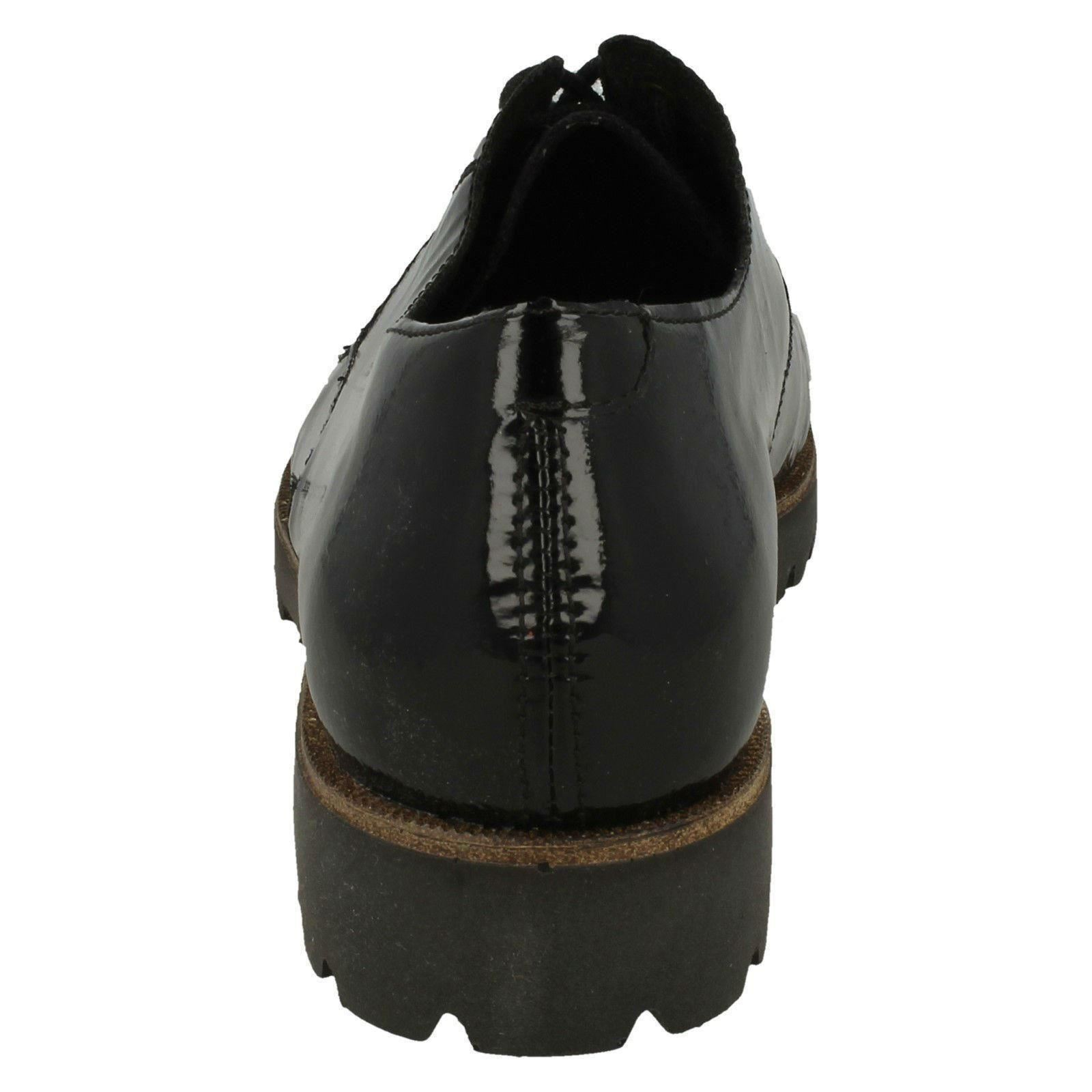 Black Ladies Synthetic Remonte Removable Toe Insole Rounded D0103 Lace Up Shoes Smart PPrax