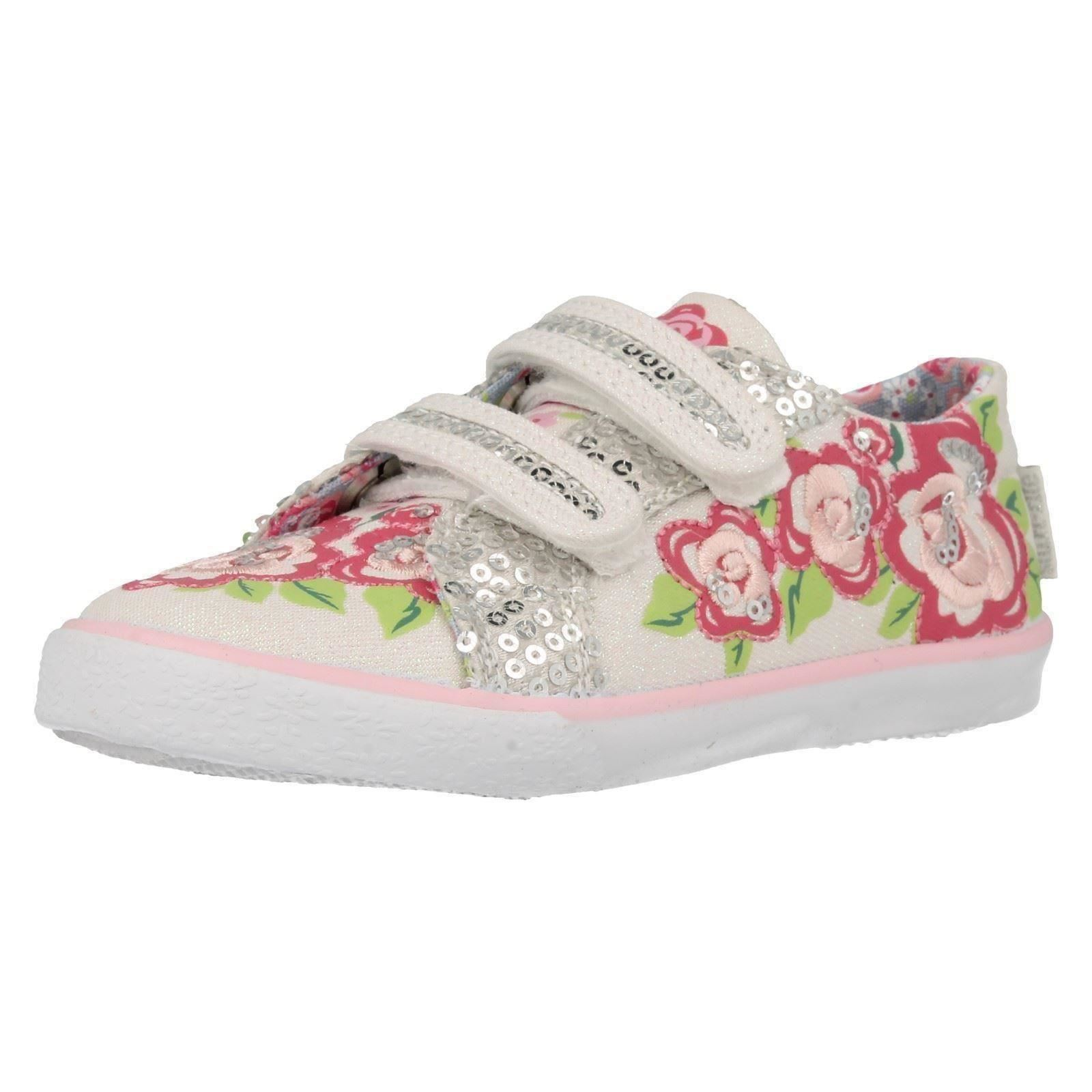 Girls Startrite Washable Canvas Pumps Rosebud