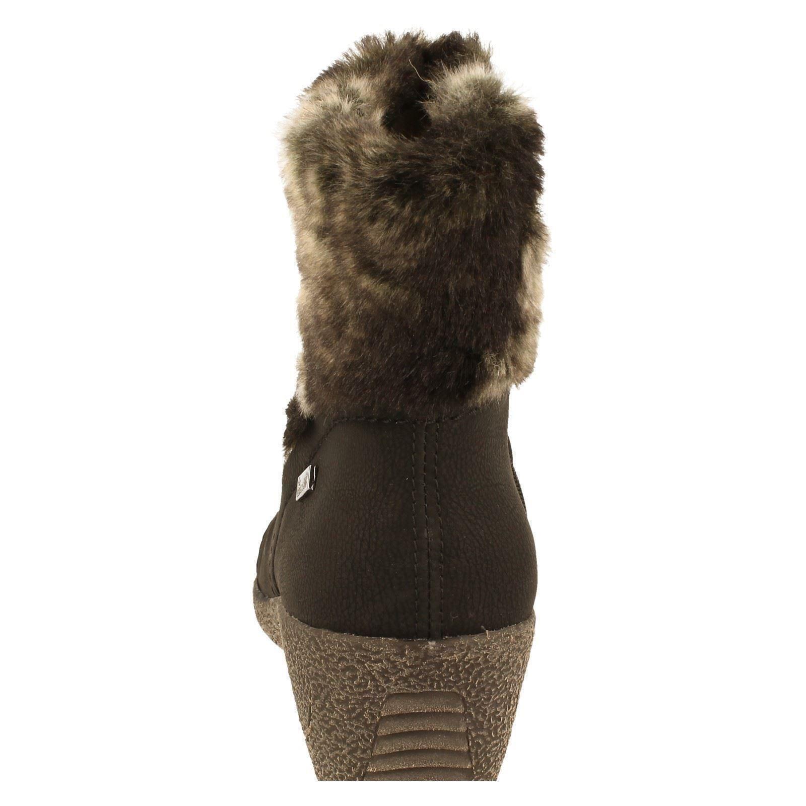 Ladies Lined Boots 'y0363 Black Tex Rieker 01' Fleece xRxrqHp8
