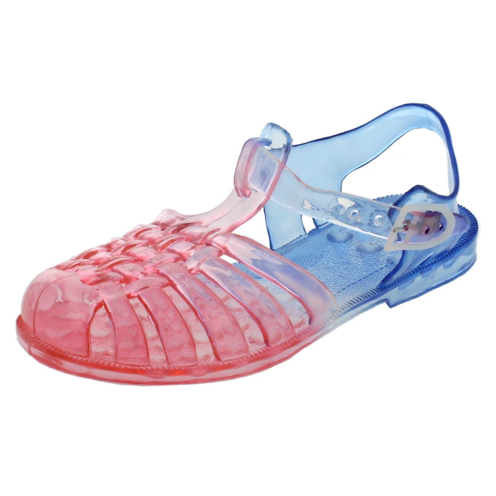 Spot on Niñas plana de dos tonos Casual Zapatos Jalea Hebilla Correa