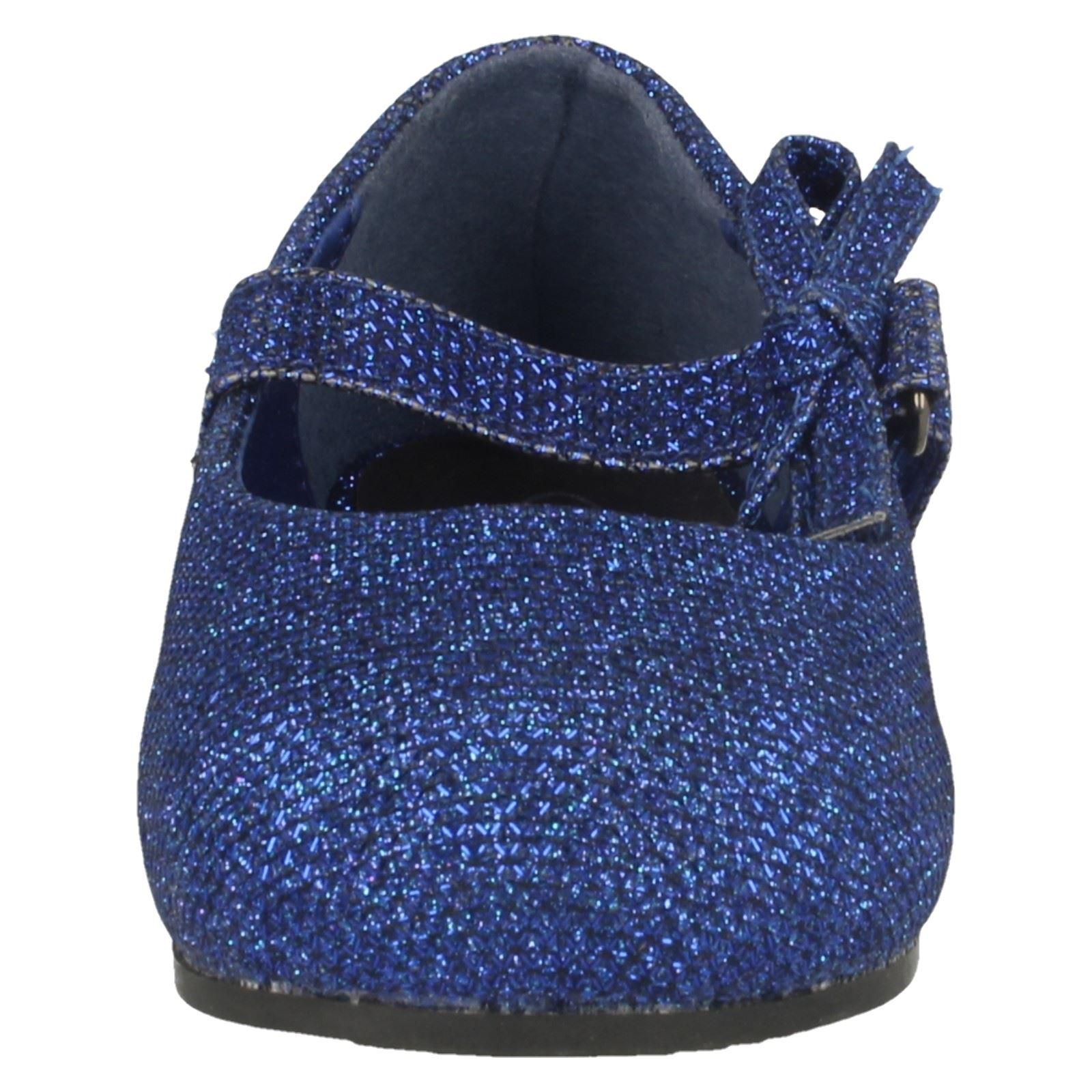 Zapato Niñas punto en plano con Moño Brillo Decoración