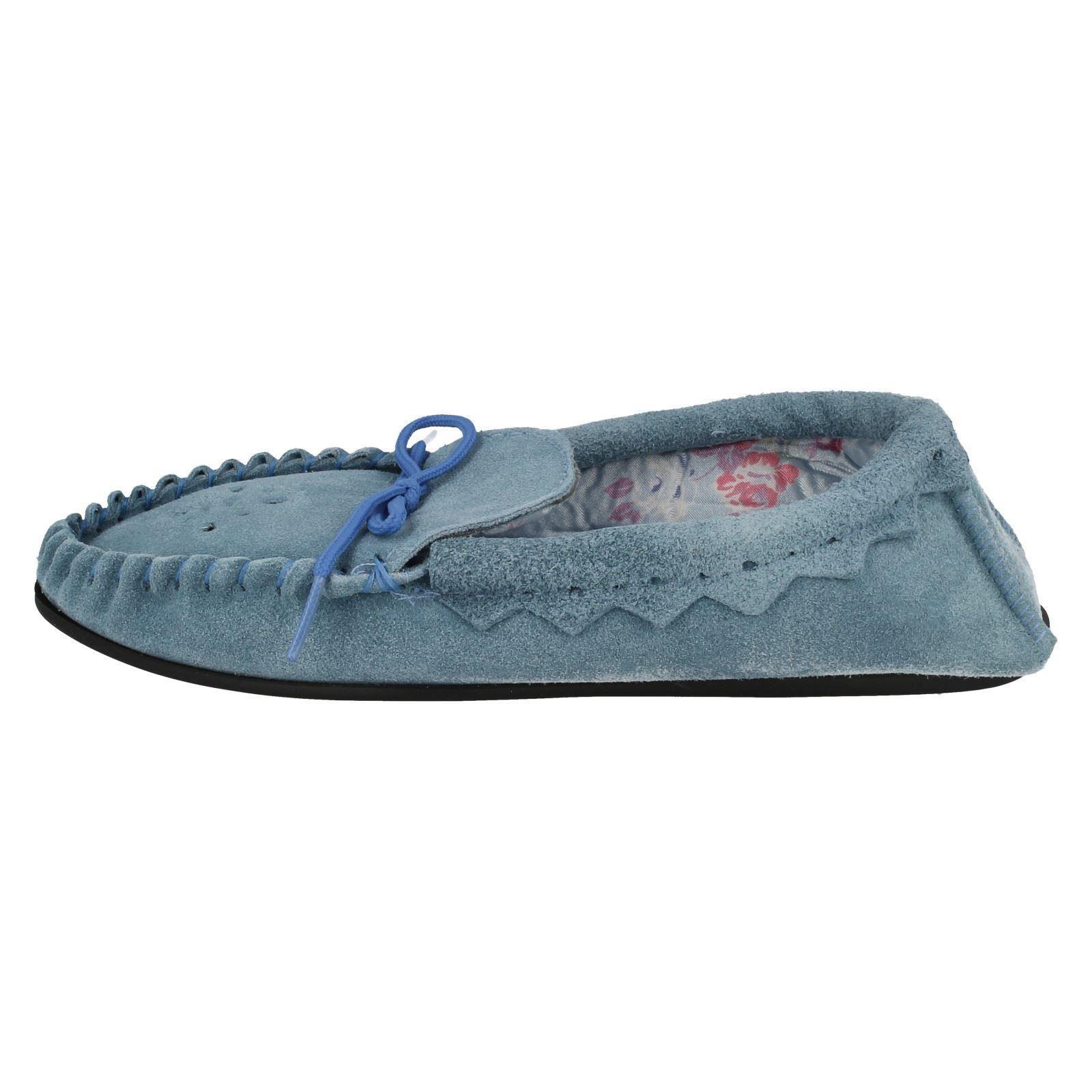 Señoras de punto en Slip On Zapatillas puñetazos Moccasin